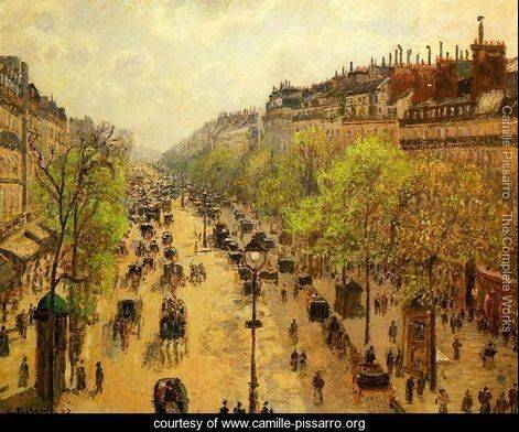 """Boulevard Monmartre, Spring Morning"" from 1897 was bought for $32.1 million.At the same sale Wednesday, Vincent Van Gogh's ""Man is at Sea"" sold for $27.5 million."