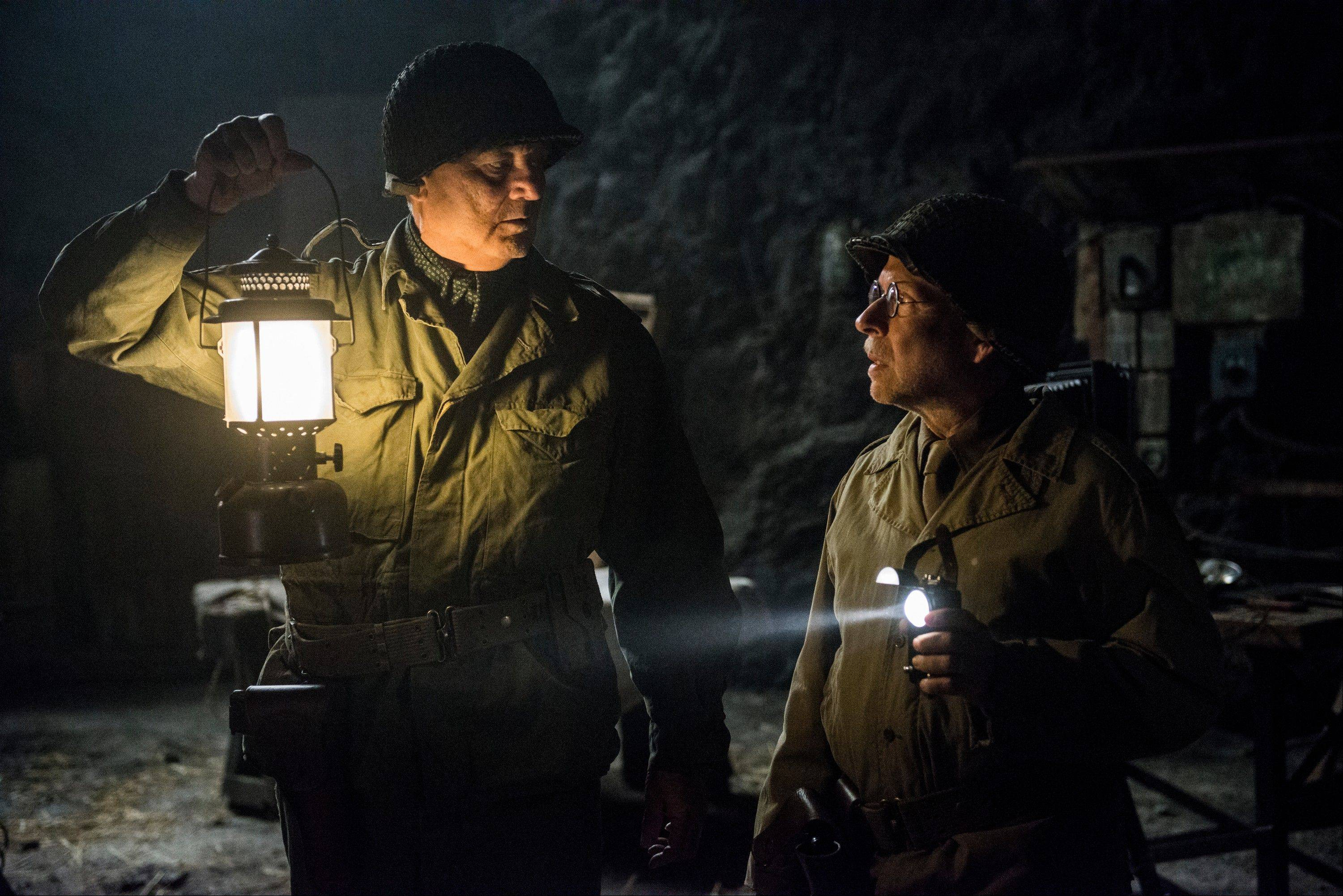 "Chicago guys Bill Murray and Bob Balaban star as World War II art experts in ""The Monuments Men."""