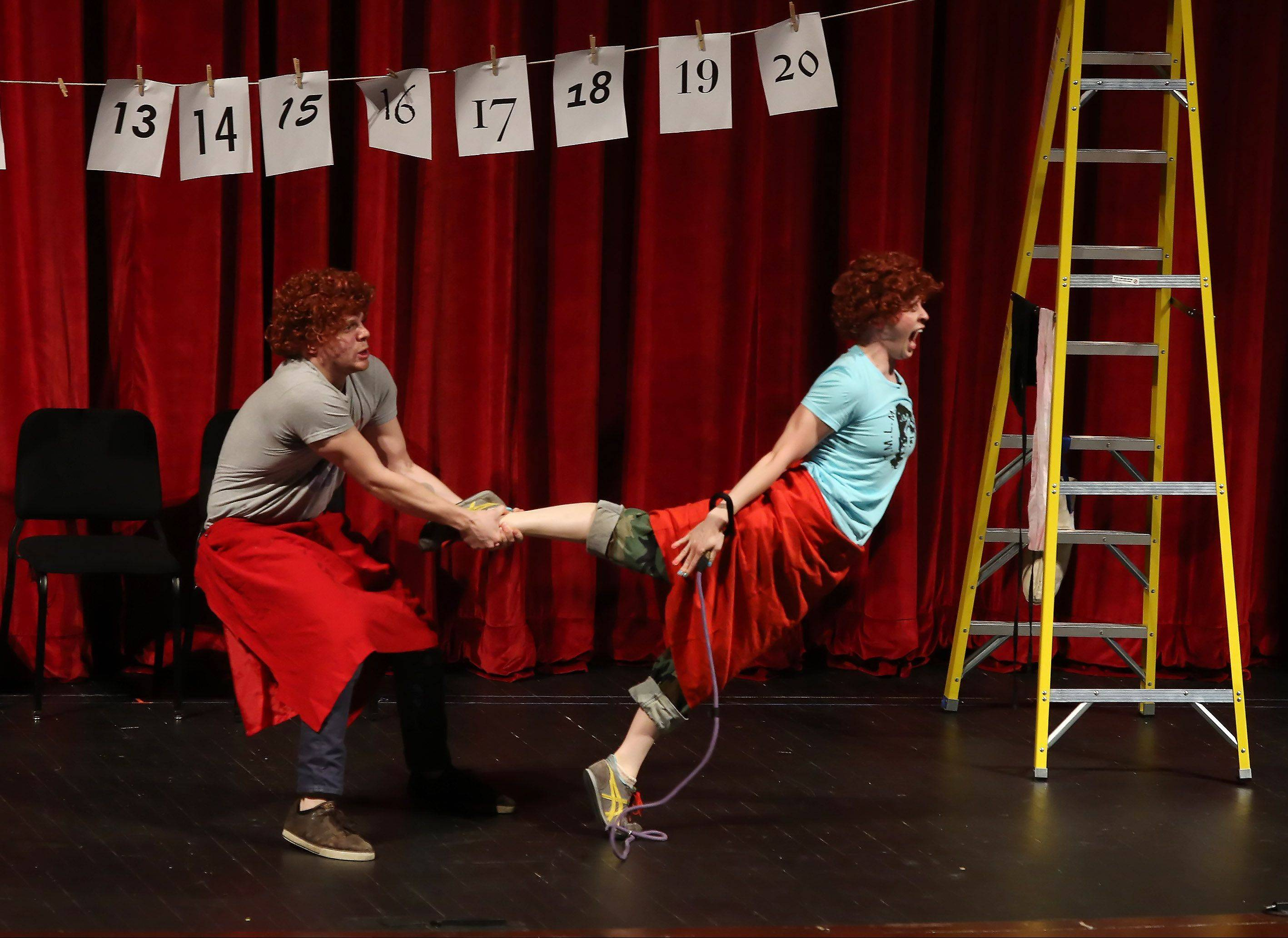"The Neo-Futurists perform ""Too Much light Makes the Baby Go Blind"" for students and teachers during the 10th Odyssey biennial fine arts festival Wednesday at Stevenson High School in Lincolnshire."