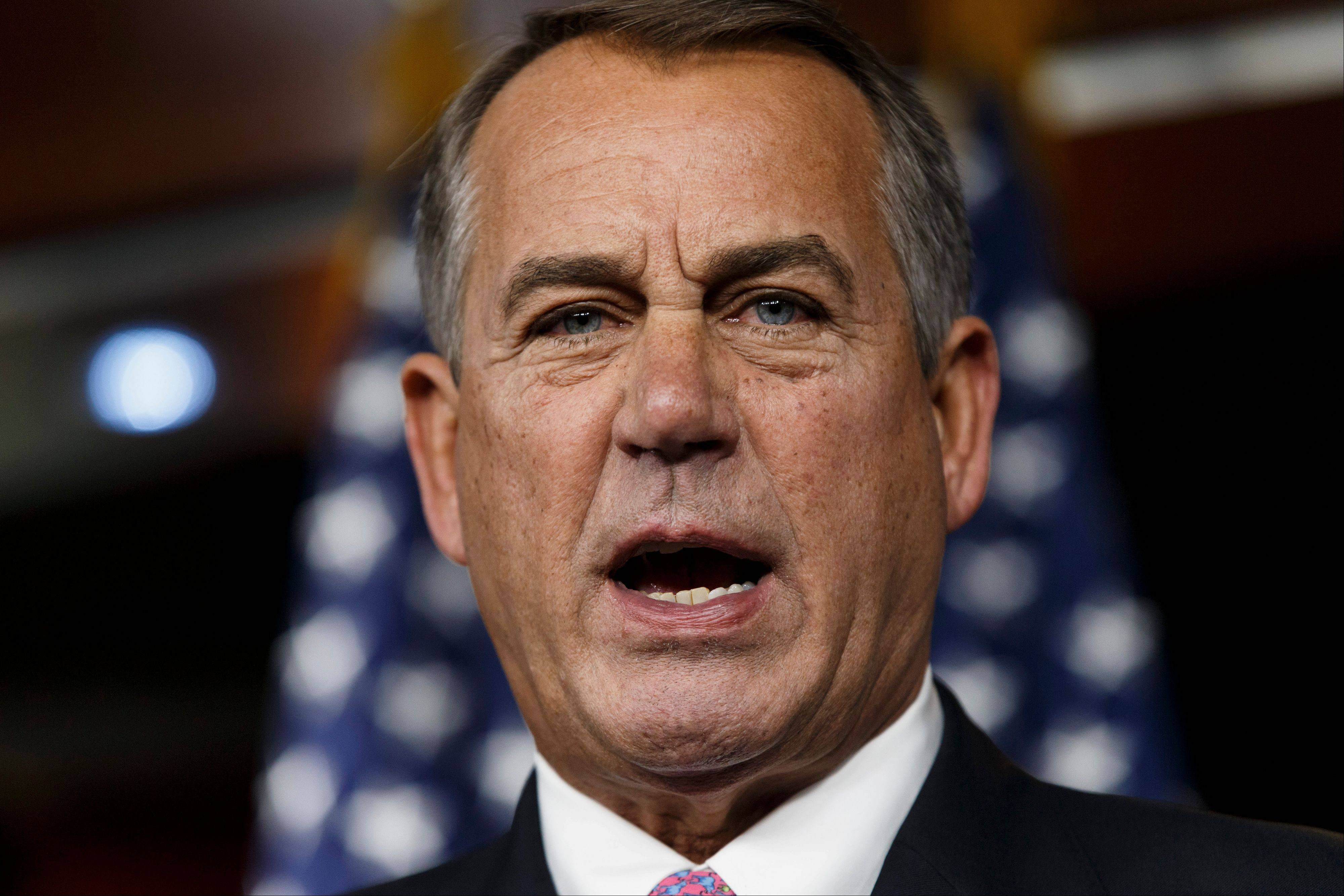 House Speaker John Boehner said Thursday it will be difficult to pass immigration legislation this year, dimming prospects for one of President Barack Obama's top domestic priorities.