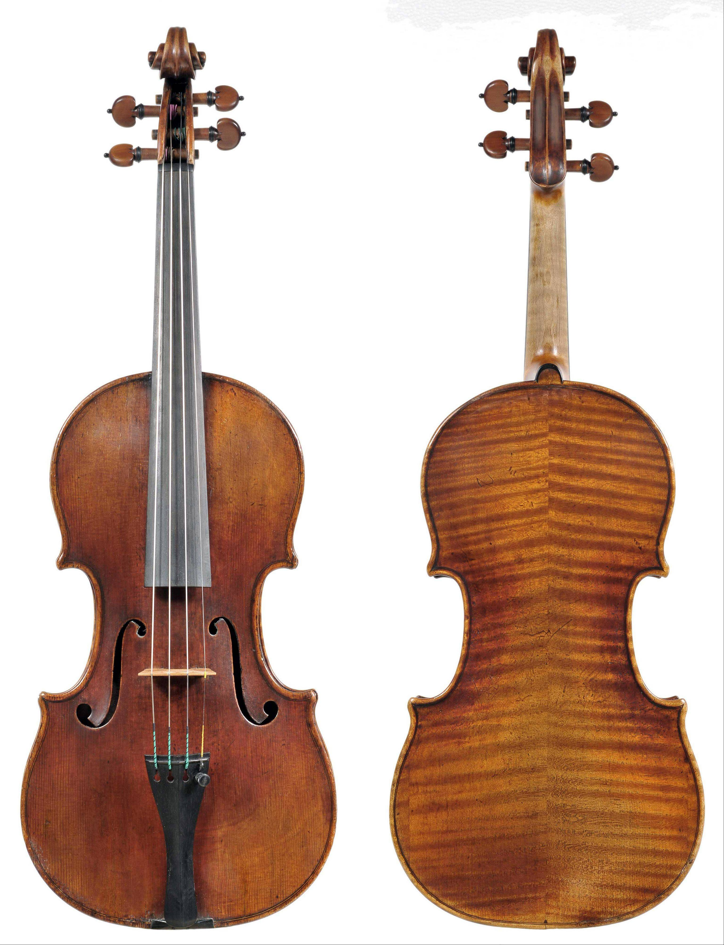 The 300-year-old Stradivarius violin that was stolen from MSO concertmaster Frank Almond. After three arrests, the violin was recovered, police said Thursday.
