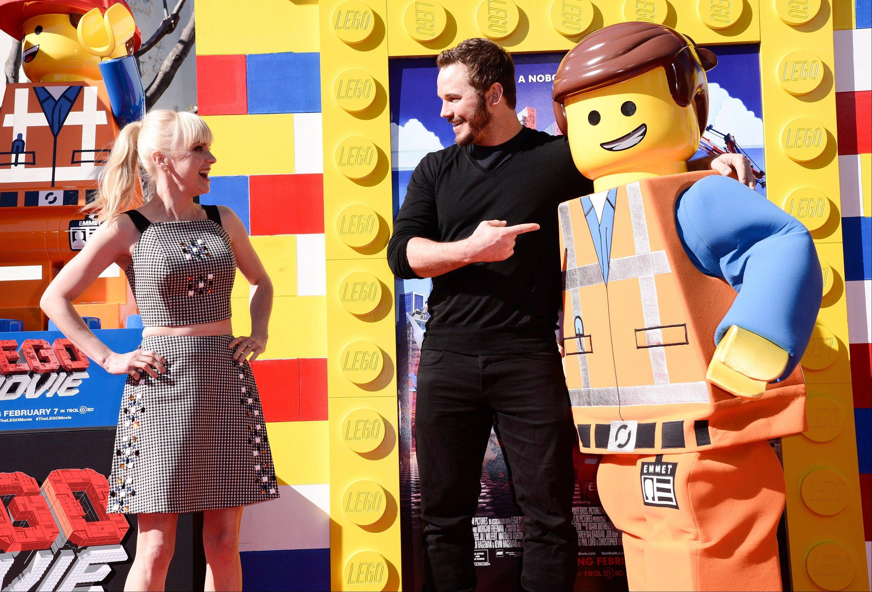"You can take control of Chris Pratt's ""The Lego Movie"" avatar in the new video game based on this week's theatrical release. Pratt and his wife, Anna Faris, had fun at the movie's premiere Feb. 1 in Los Angeles."