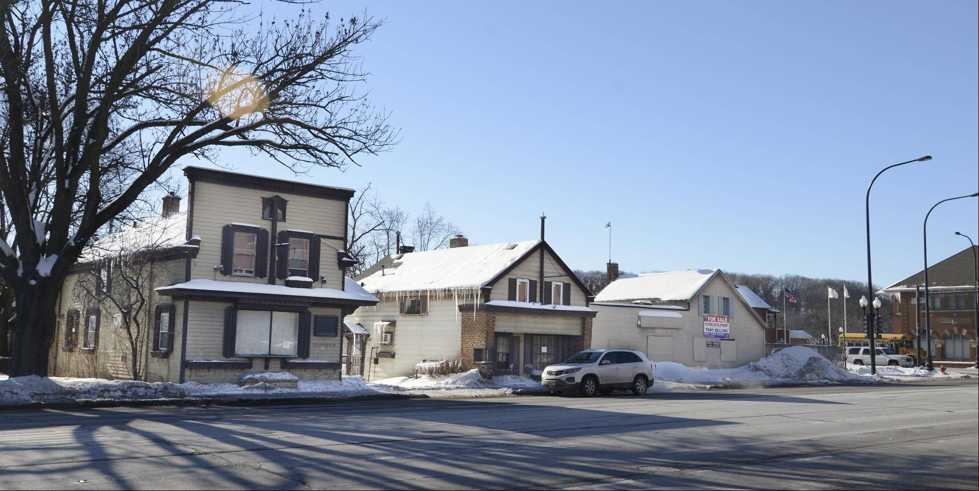 Three historic buildings on West Algonquin Road in Algonquin will be demolished within the next six months. They are part of the original business district and are in severe disrepair, documents show.