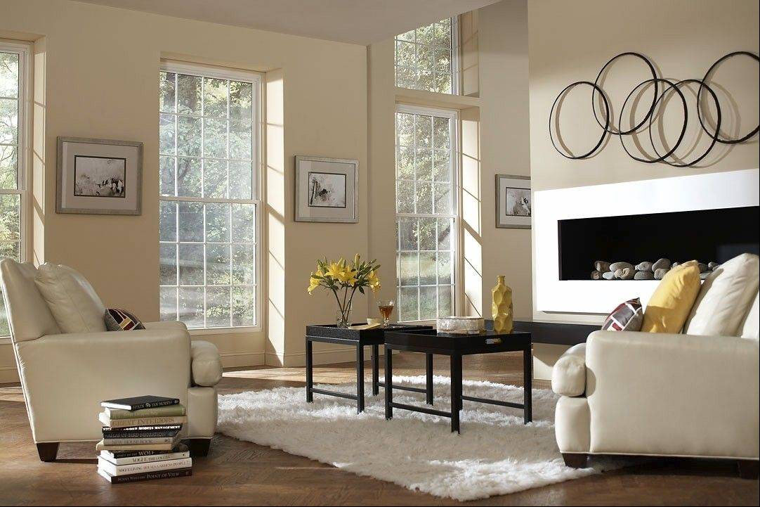 Polyvinyl chloride, or PVC, replacement windows come in many colors and can even simulate the look of real wood.