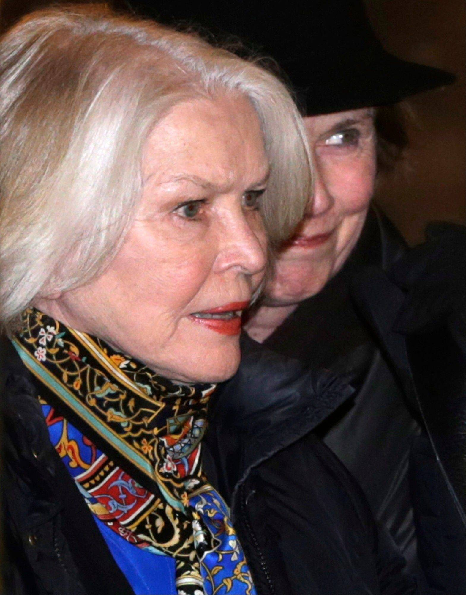 Actress Ellen Burstyn arrives at a wake for actor Philip Seymour Hoffman at the Frank E. Campbell Funeral Home on Manhattan's Upper East Side Thursday, Feb. 6, 2014, in New York.