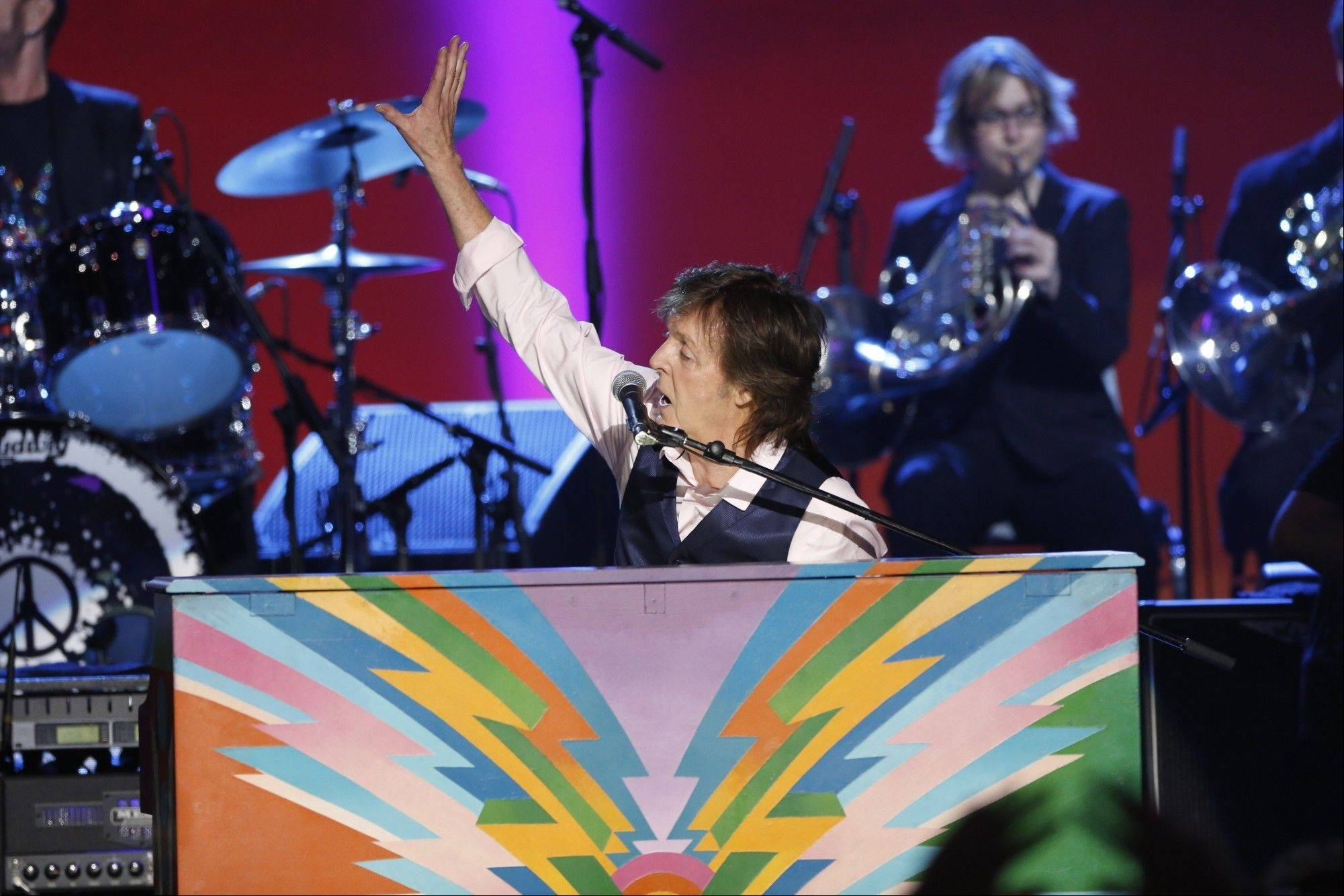 "Paul McCartney performs on CBS' ""The Night That Changed America: A Grammy Salute to the Beatles."""