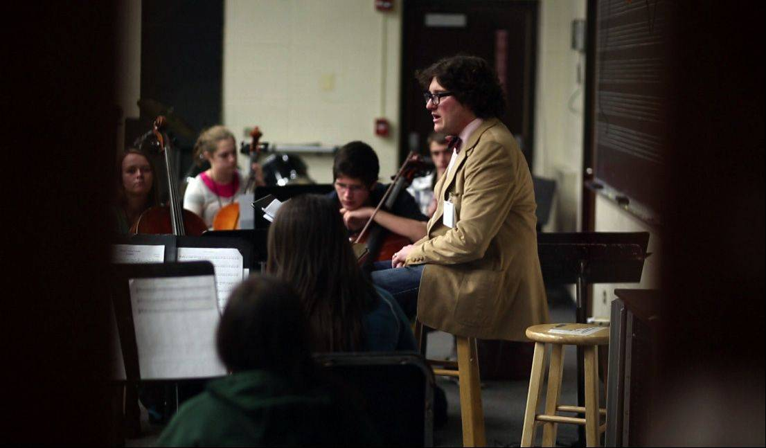David Hain, orchestra/choir director at Streamwood High School, is the Daily Herald's top teacher of the month.