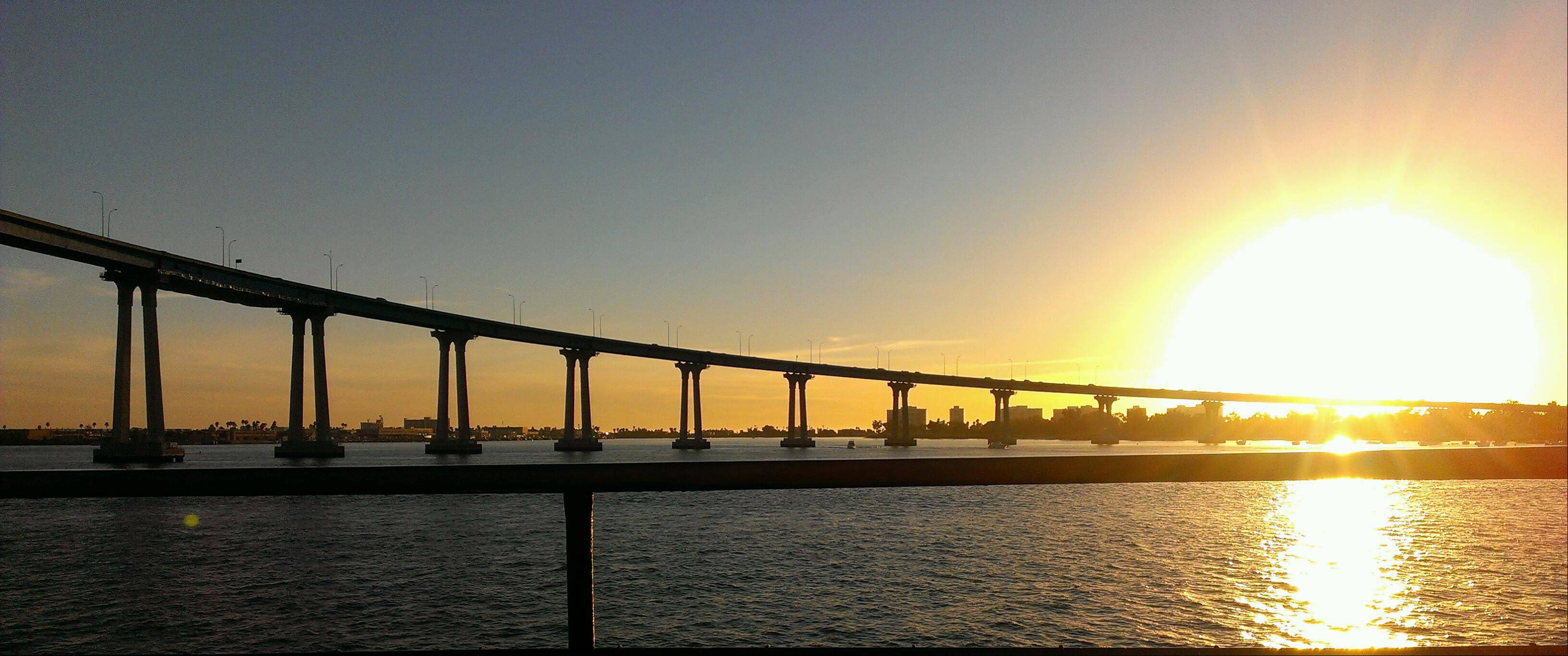 This photo is of the Coronado bridge in San Diego, CA. It was taken while on a cruise of the bay.