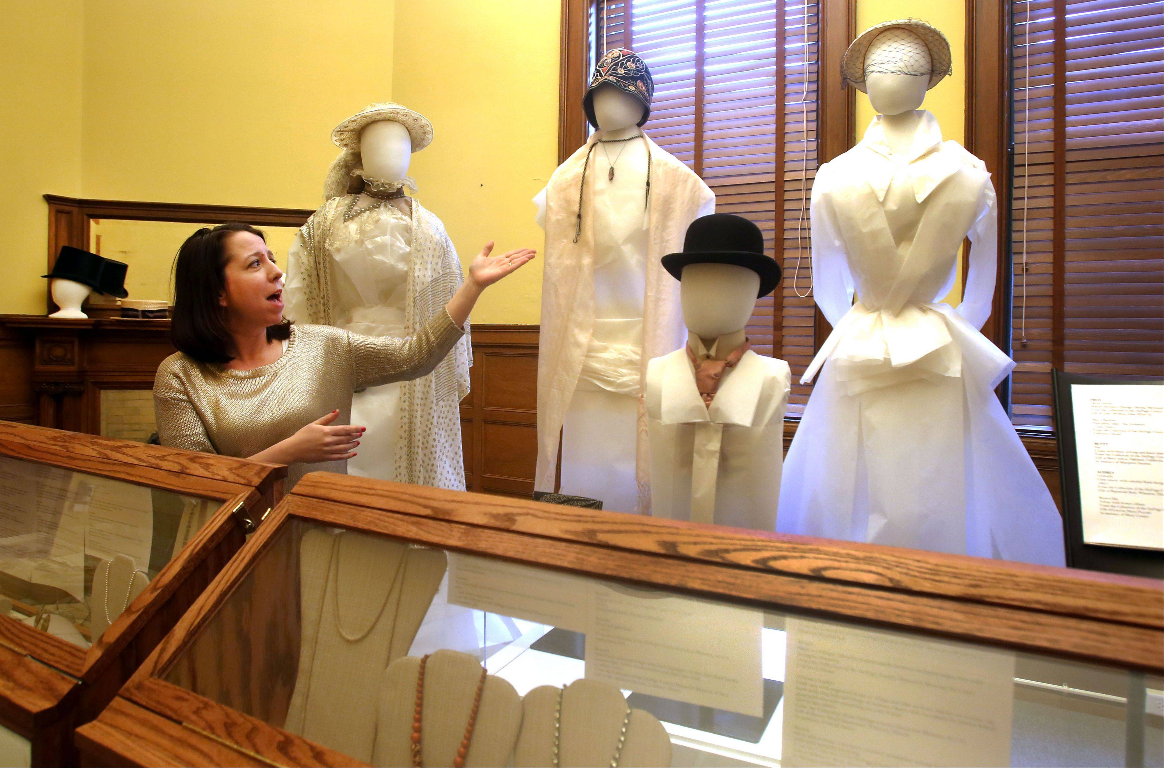 "Museum Educator Sara Buttita said the exhibit ""Fashion Accessories: In Vogue � and Out"" was fun for the women on staff at the DuPage County Historical Museum to put together."