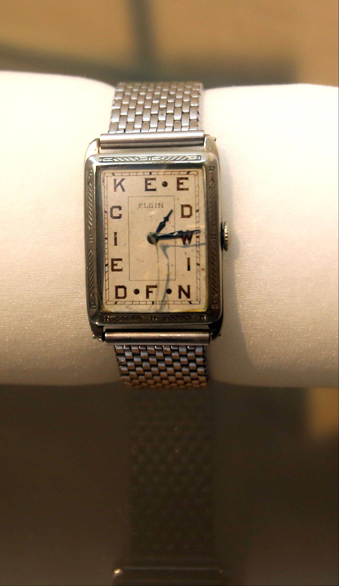 """Fashion Accessories: In Vogue � and Out"" showcases unusual pieces such as this watch that spells out the owner's name, starting at 1 o'clock."