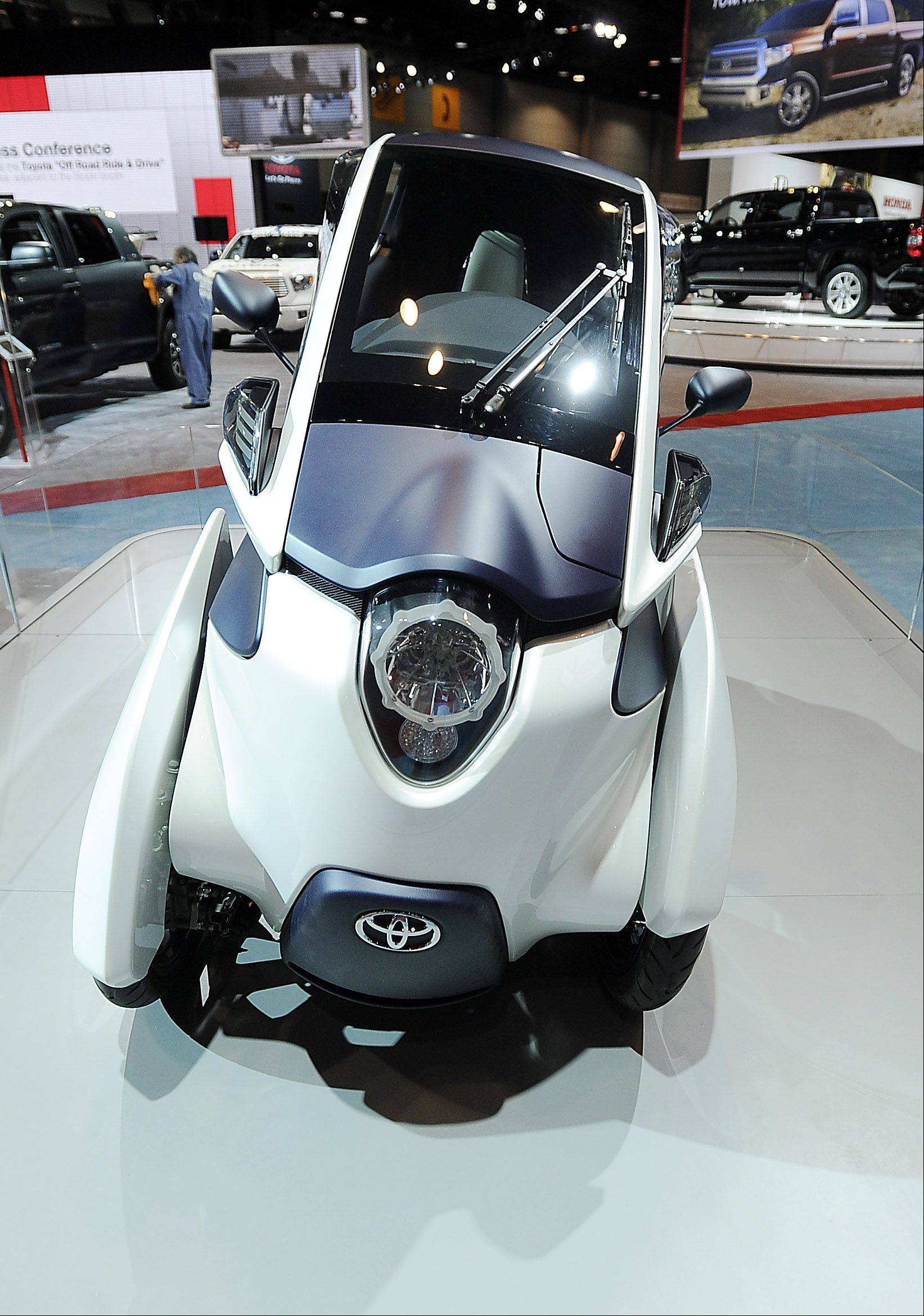 The Toyota Concept car iROAD will surely be a big hit with auto fans once they see how it moves on the street.