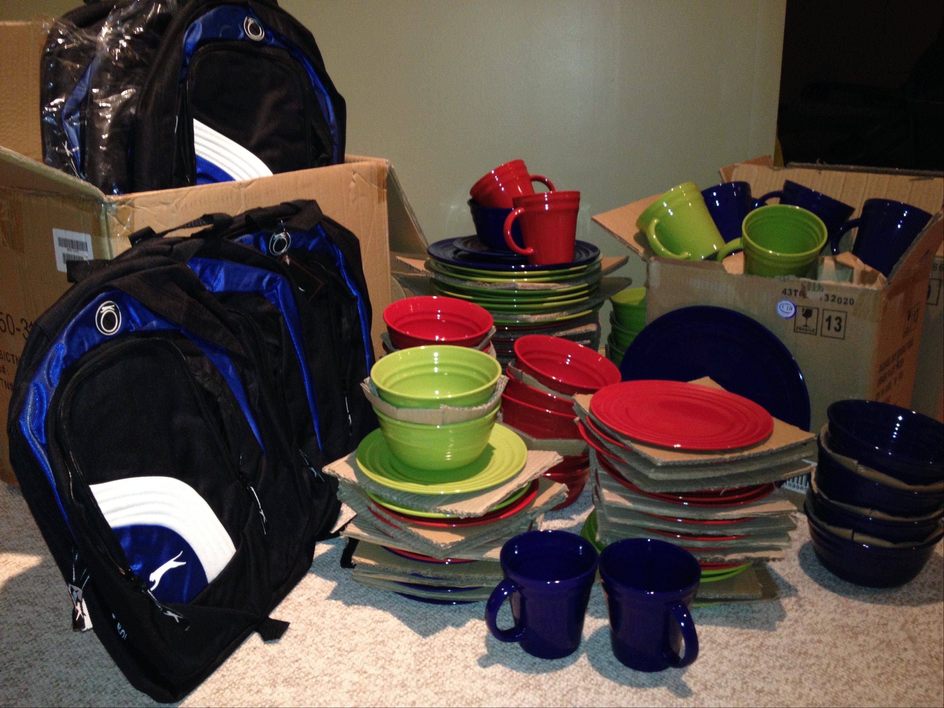 Backpacks of school supplies, food, new dishes and clothing are among the items collected by CHIP IN Batavia. $PHOTOCREDIT_ON$courtesy of Joanne Spitz $PHOTOCREDIT_OFF$