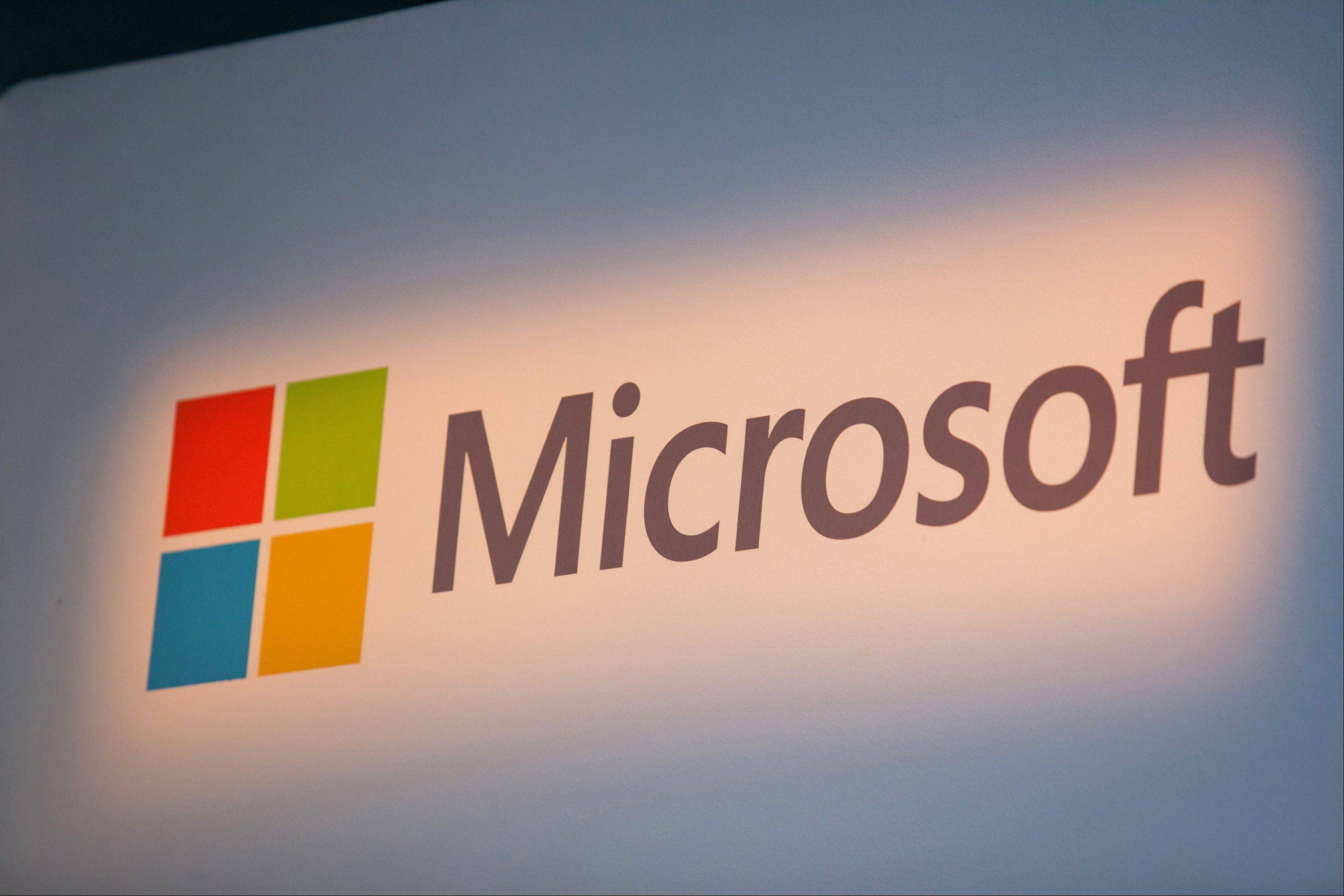A Windows operating system logo sits on display inside Microsoft Corp.'s new store in Berlin, Germany.