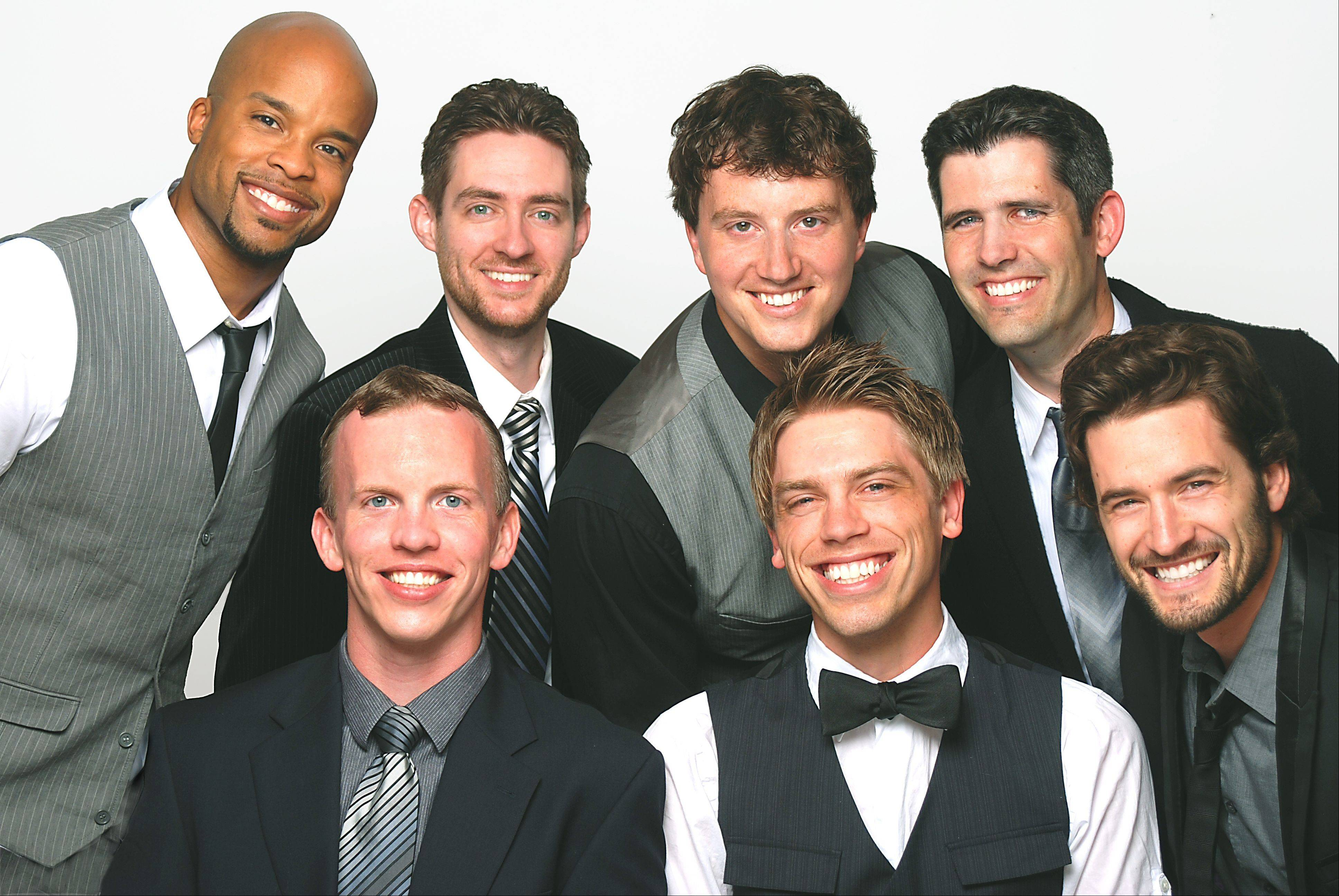 The all-male, a cappella vocal group Chapter 6 headines in a concert at Stevenson High School in Lincolnshire.