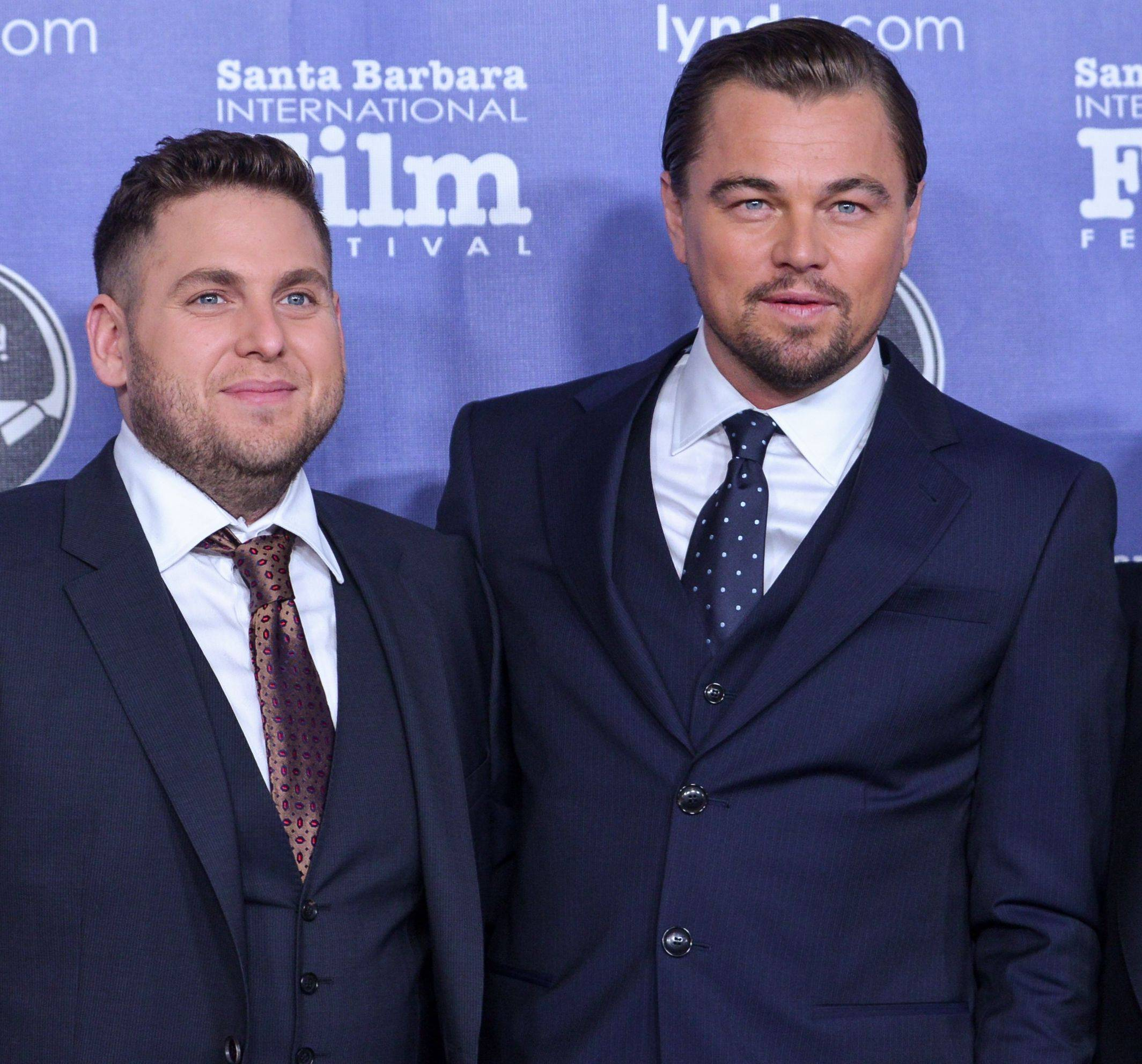 From left, Jonah Hill, Leonardo DiCaprio are teaming up again to tell the story of 1996 Olympic security guard Richard Jewell.