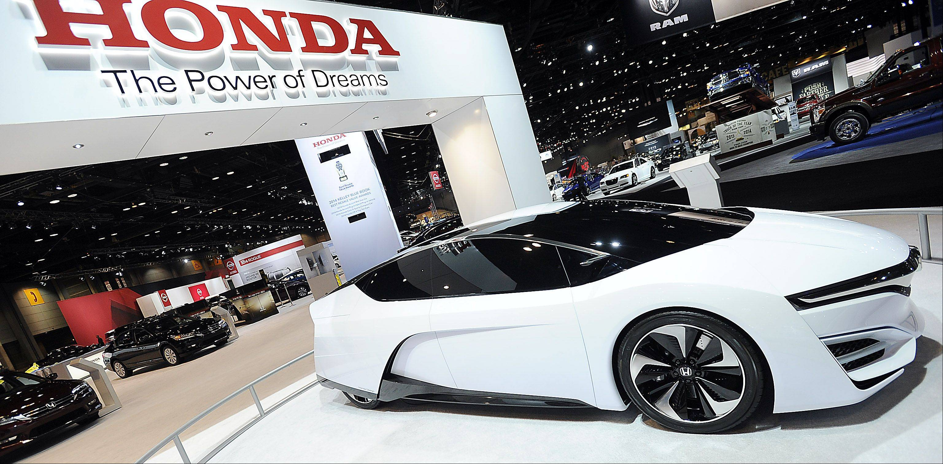 The Honda FCEV Concept car can be seen now through Feb. 17 at the 106th Chicago Auto Show.