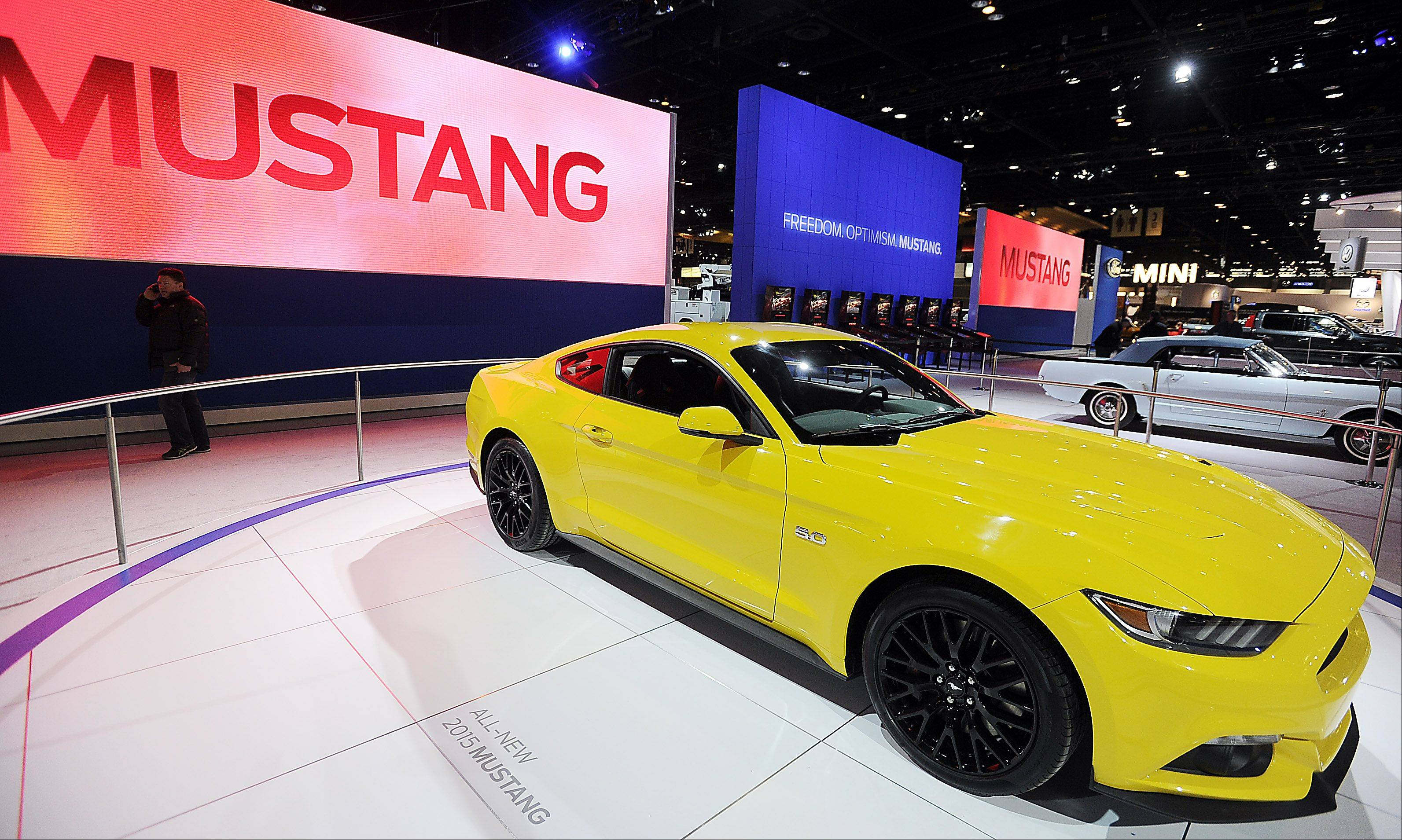 The Ford Mustang turns 50 this year. The 2015 Mustang at the 2014 Chicago Auto Show has been given a next generation makeover.