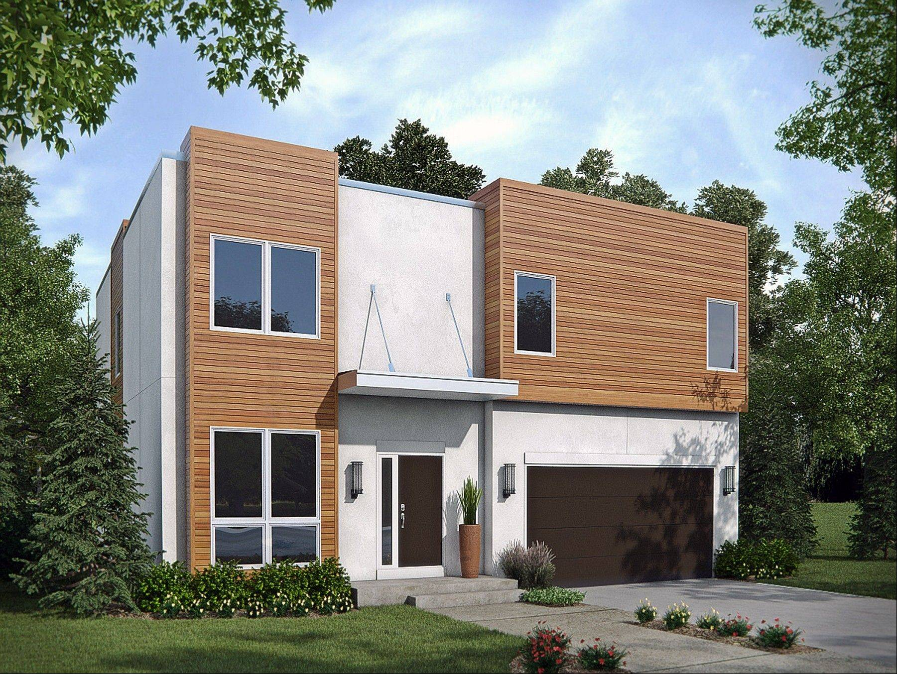Airhart Construction is working on a series of Mid-Century Modern homes that can be built on property in DuPage County.