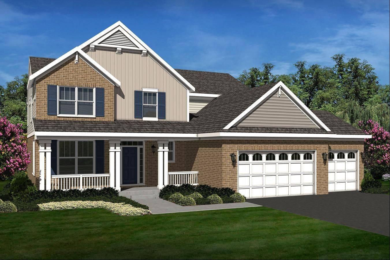 D.R. Horton offers this Bristol floor plan. It is developing Running Brook Farm in Johnsburg and two communities in New Lenox.
