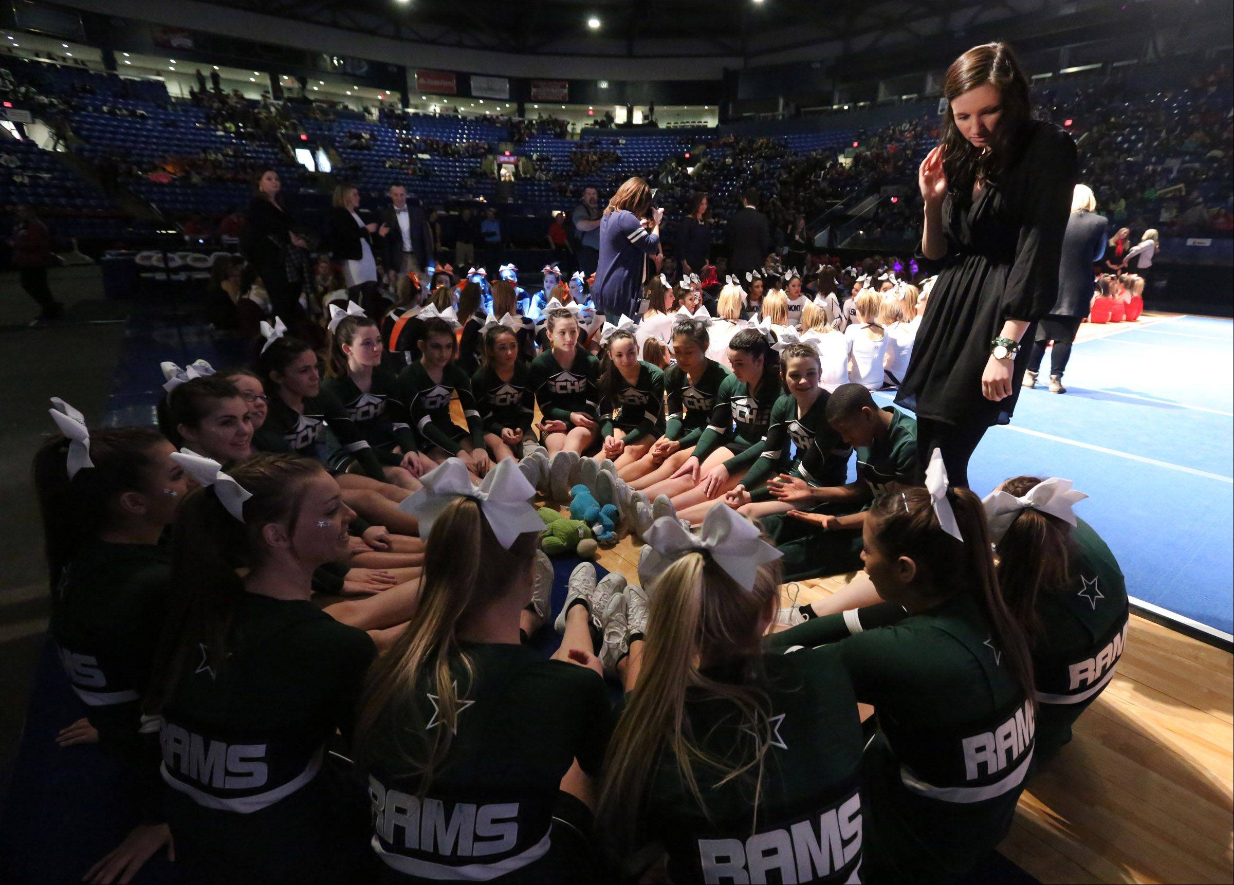 Grayslake Central High School waits for winners to be announced in the IHSA state finals Saturday.