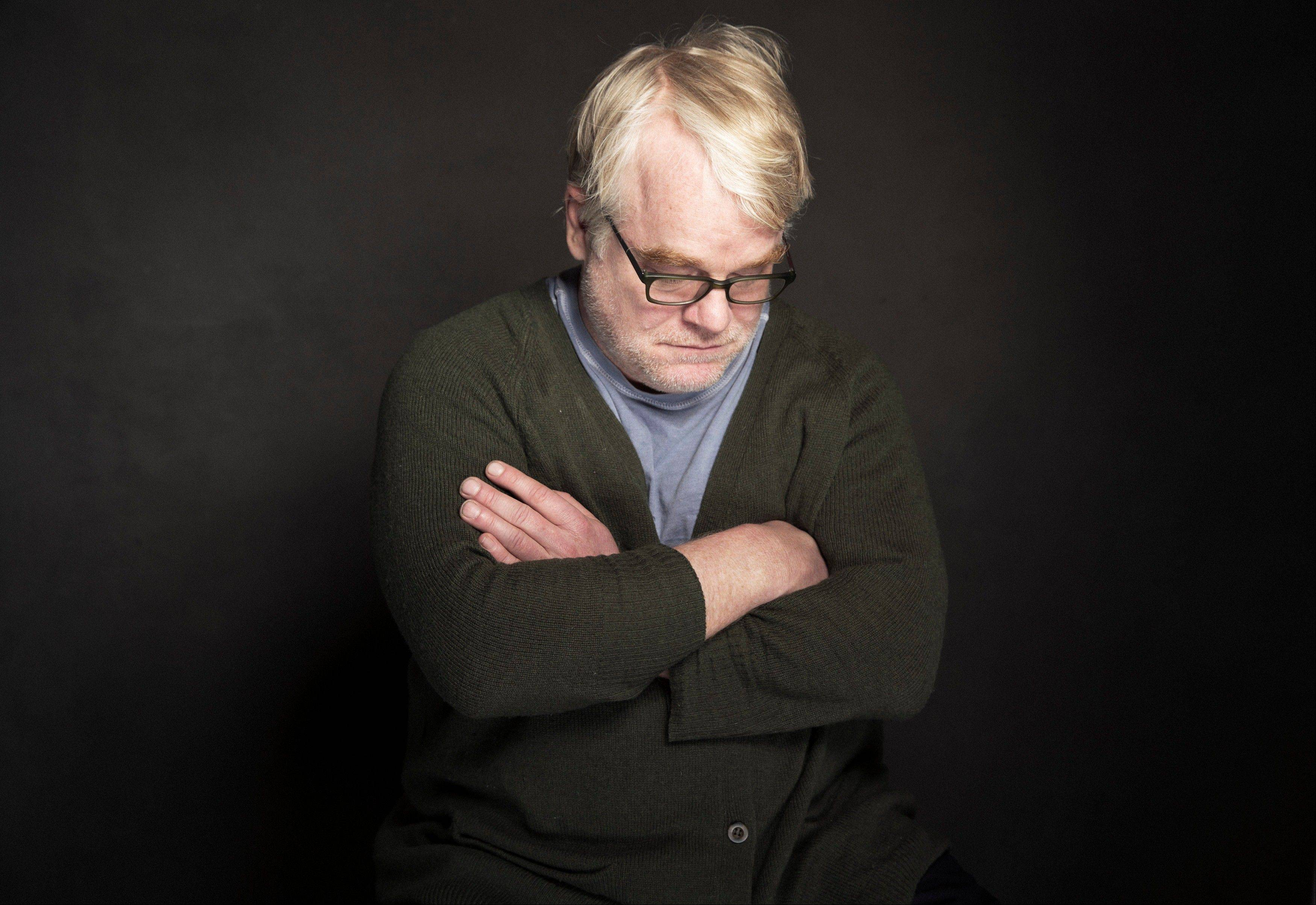 Phillip Seymour Hoffman posing for a portrait at The Collective and Gibson Lounge Powered by CEG, during the Sundance Film Festival, in Park City, Utah, last Jan. 19.