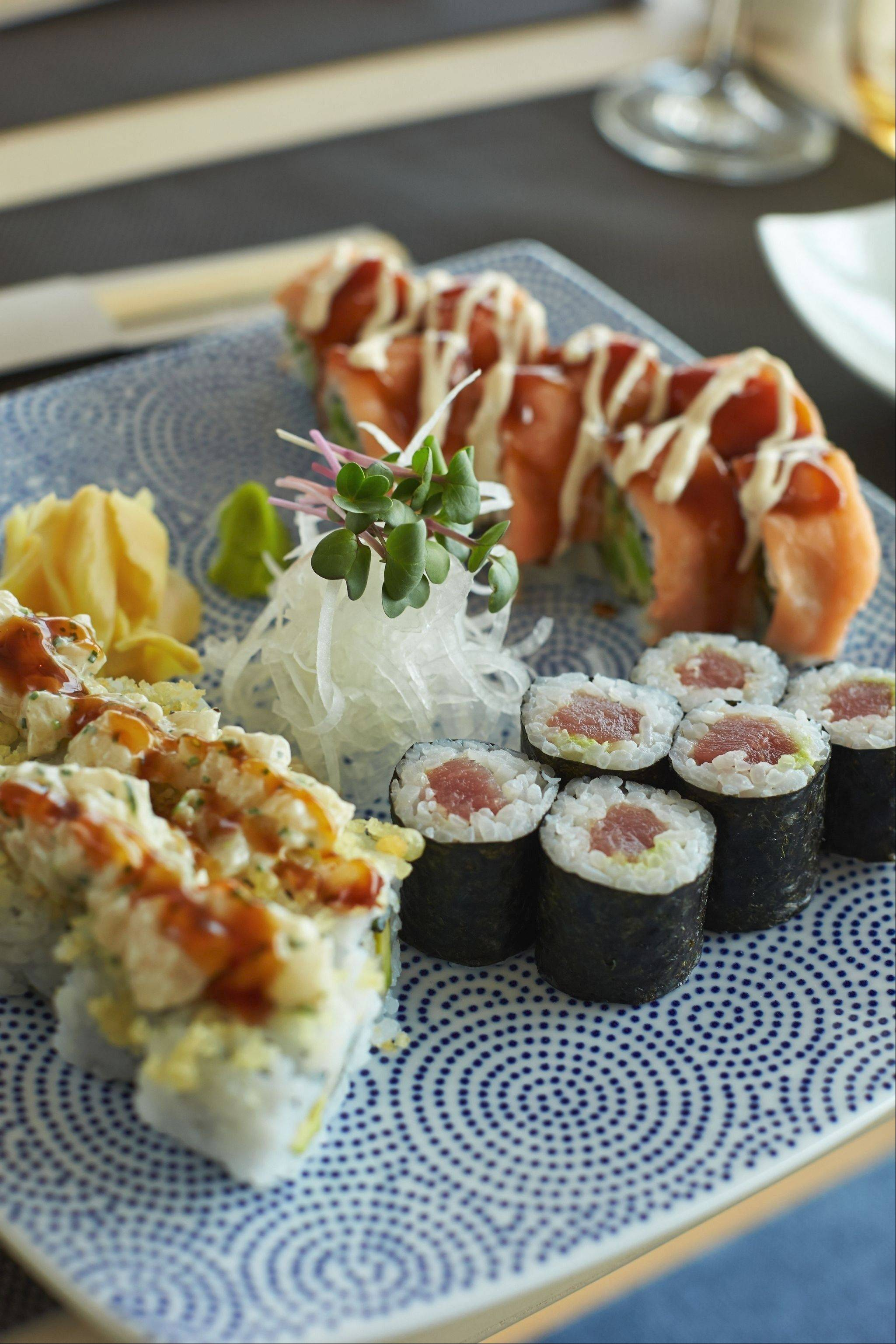 Sushi is a feast for the eyes as well as the palate in the specialty restaurant, Sakura.