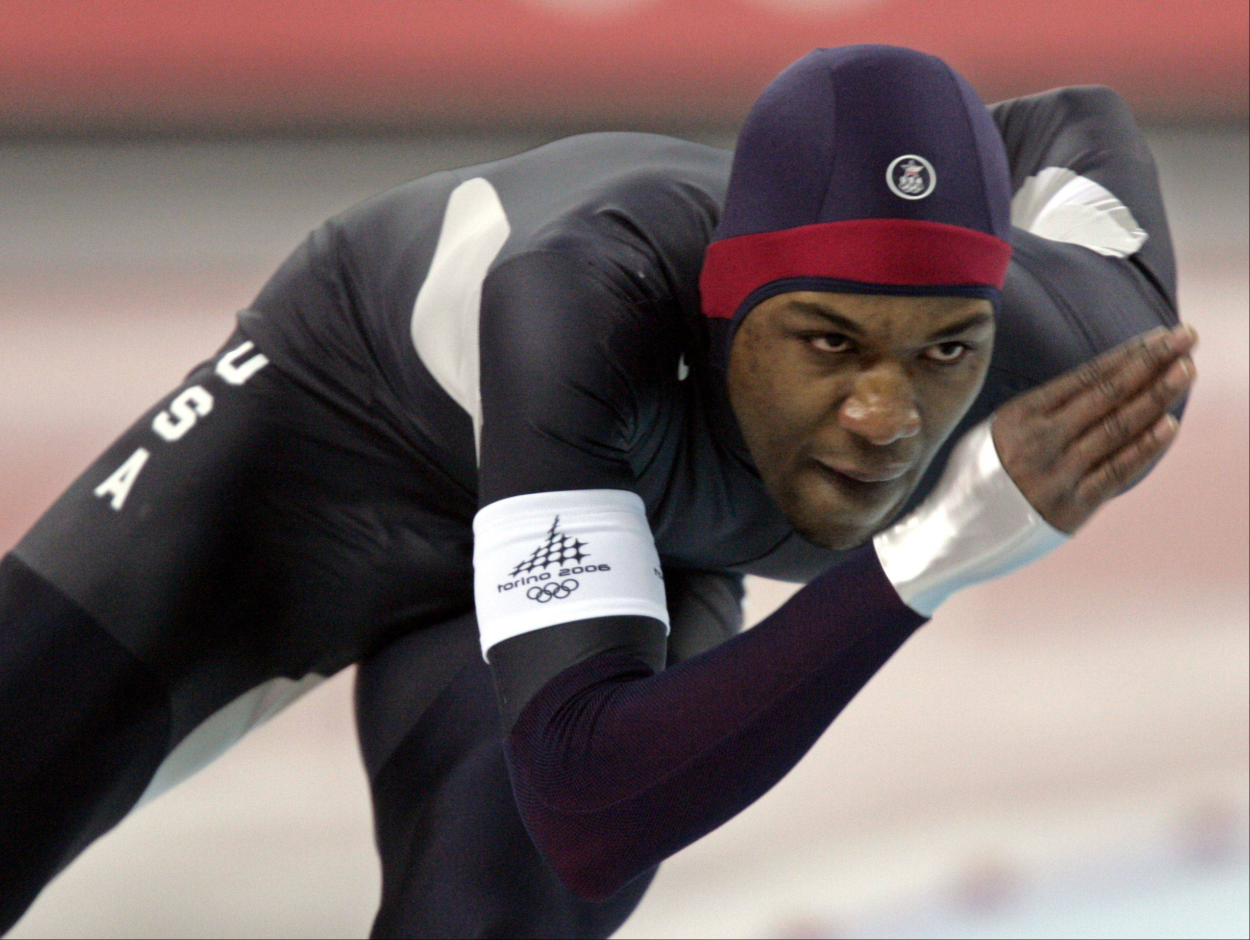 Chicagoan Shani Davis, shown here competing in the 2006 Winter Olympics, will also be on the U.S. Speedskating team during the 2014 Winter Olympics in Sochi.