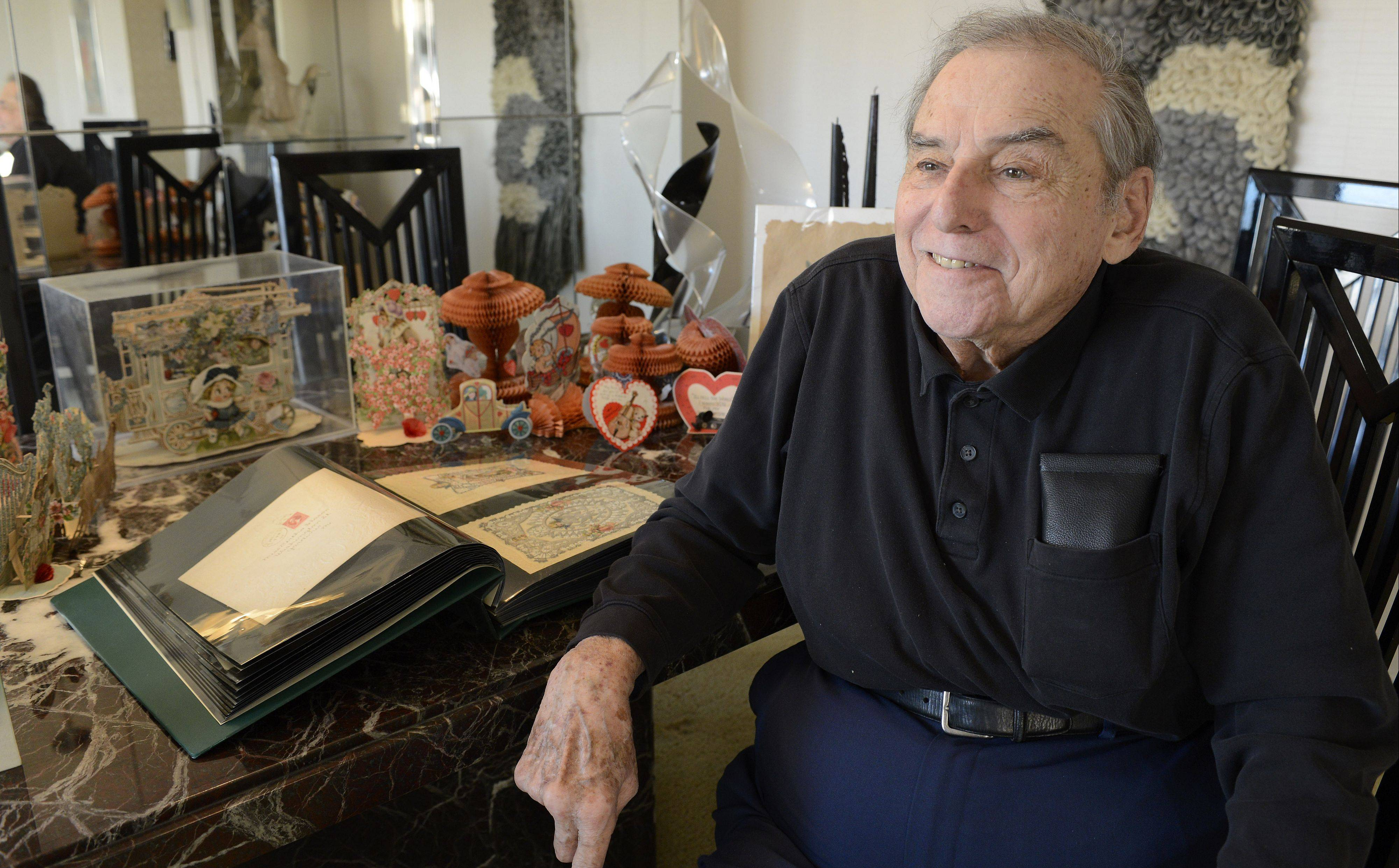 Known for advocating for change on social issues, 81-year-old Lloyd Levin looks to the past when it comes to Valentine's Day. His antique card collection features some true works of art.