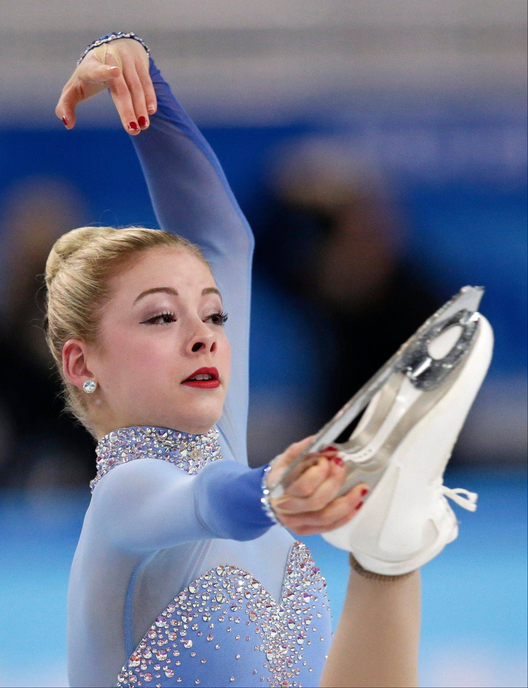 Gracie Gold competes Sunday in the women's team free skate figure skating competition at the Iceberg Skating Palace during the 2014 Winter Olympics in Sochi, Russia.