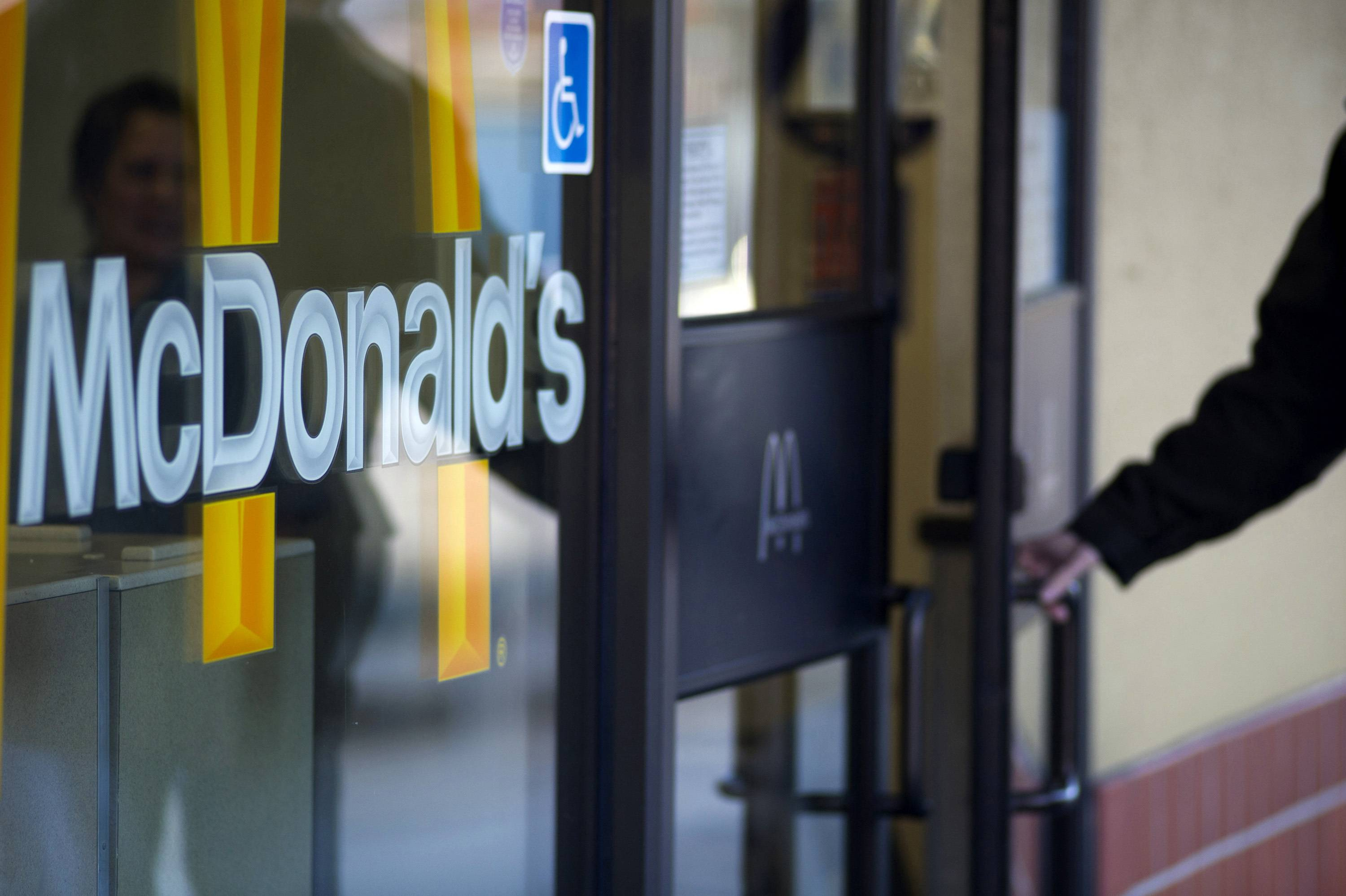 McDonald's says bad weather hurt its U.S. sales performance in January, representing another setback as the fast-food chain fights to fend off rivals and get its menu right.