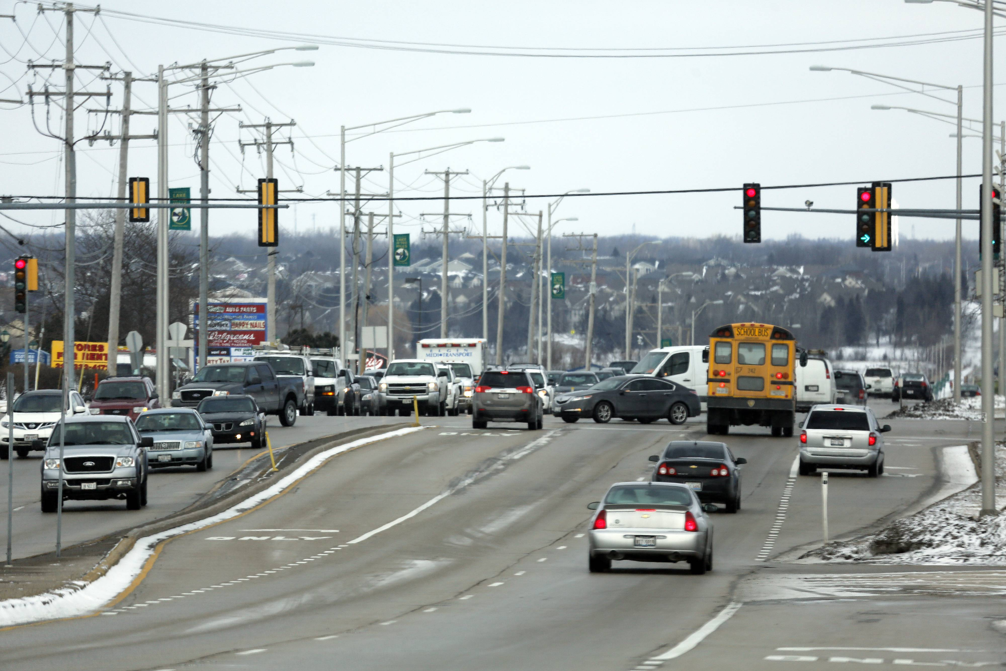 The intersection of Randall and Algonquin roads would get a continuous flow intersection as part of McHenry County's plan to widen Randall Road.