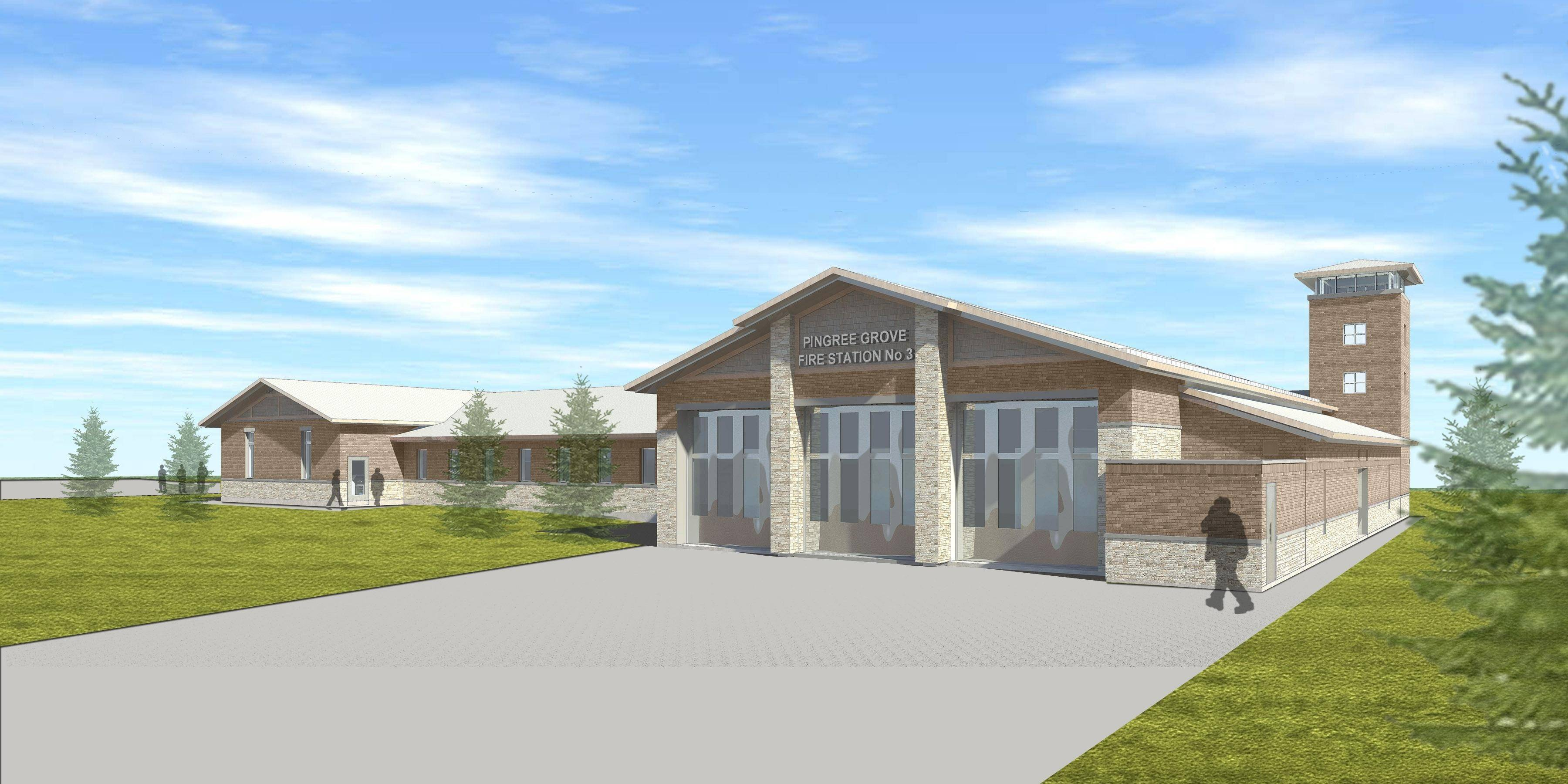 A new fire station for the Pingree Grove and Countryside Fire Protection District will be built on about 3 acres west of Reinking Road just north of Route 72, at the entrance of the Cambridge Lakes North subdivision.