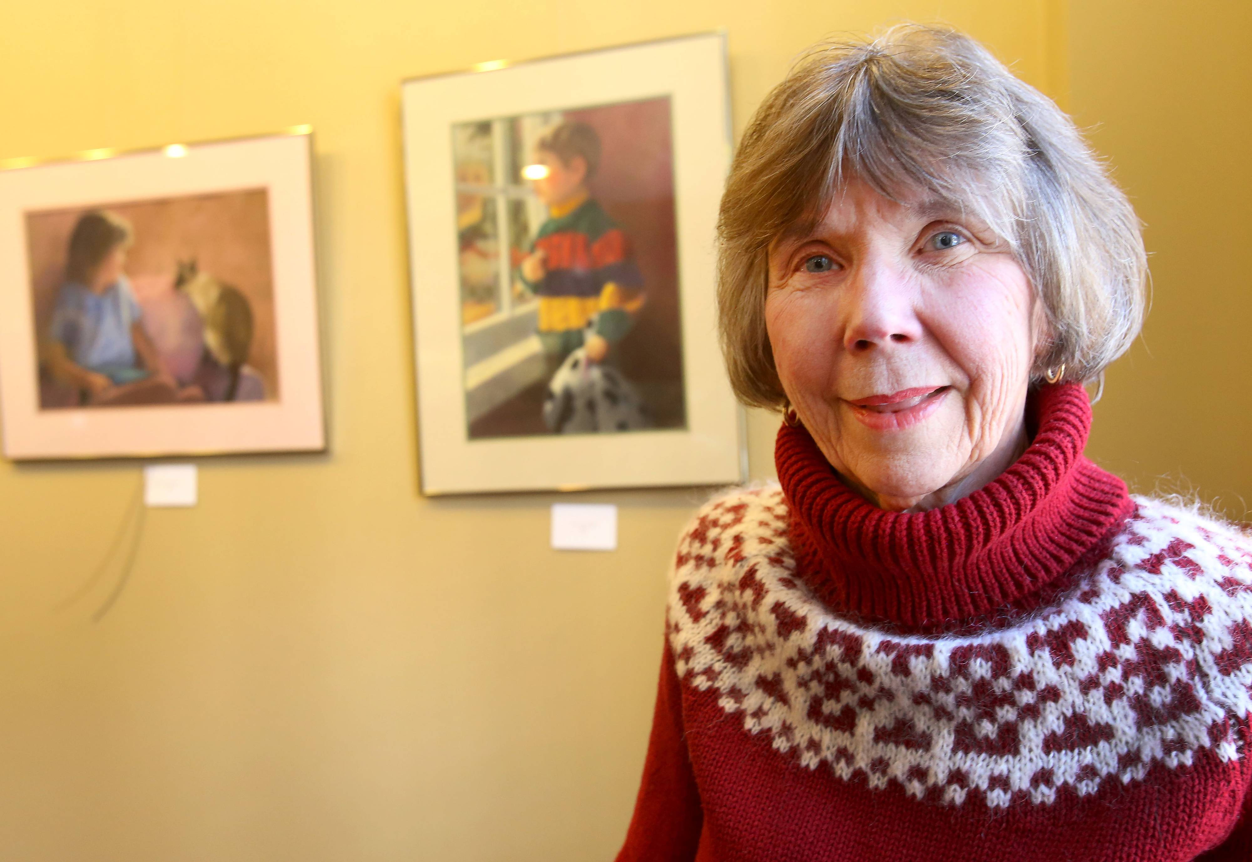 Glen Ellyn artist Jean Griffin, who has exhibited her work locally and nationally, does her portraits of children as a benefit for Young Men's Educational Network of Chicago.