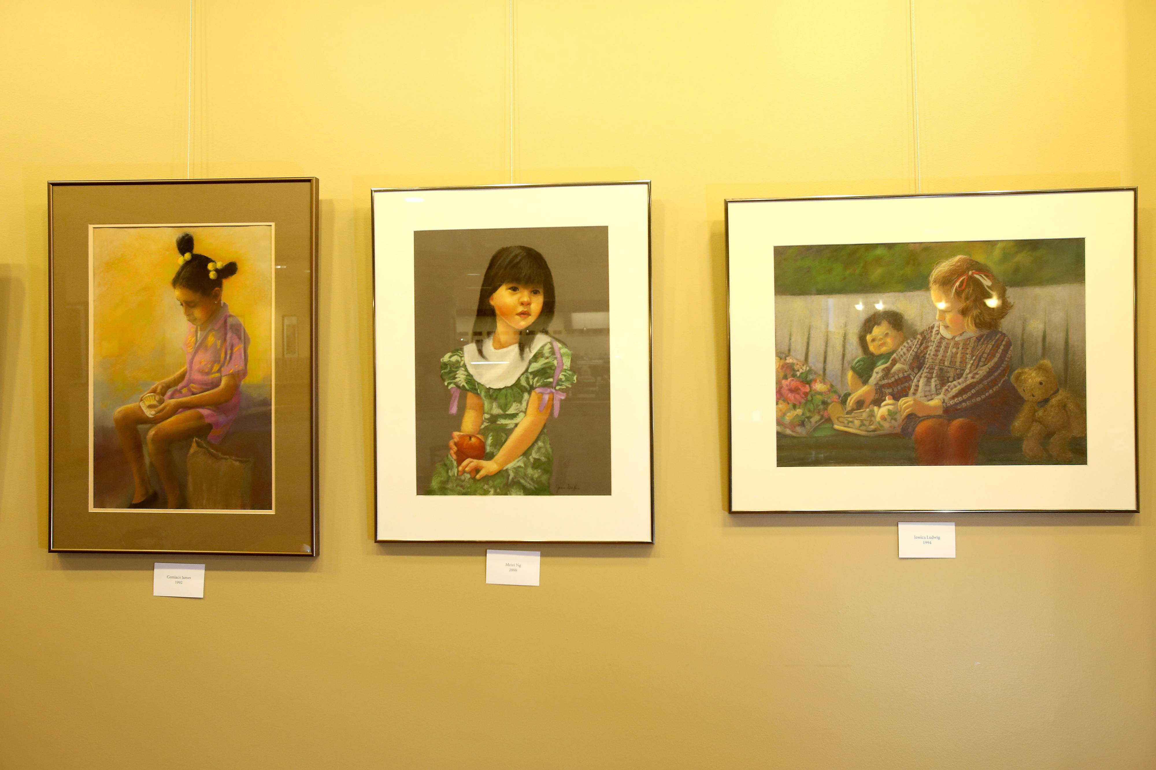 Jean Griffin's portraits of children are commissioned by families and feature actual children. She works primarily from photographs.