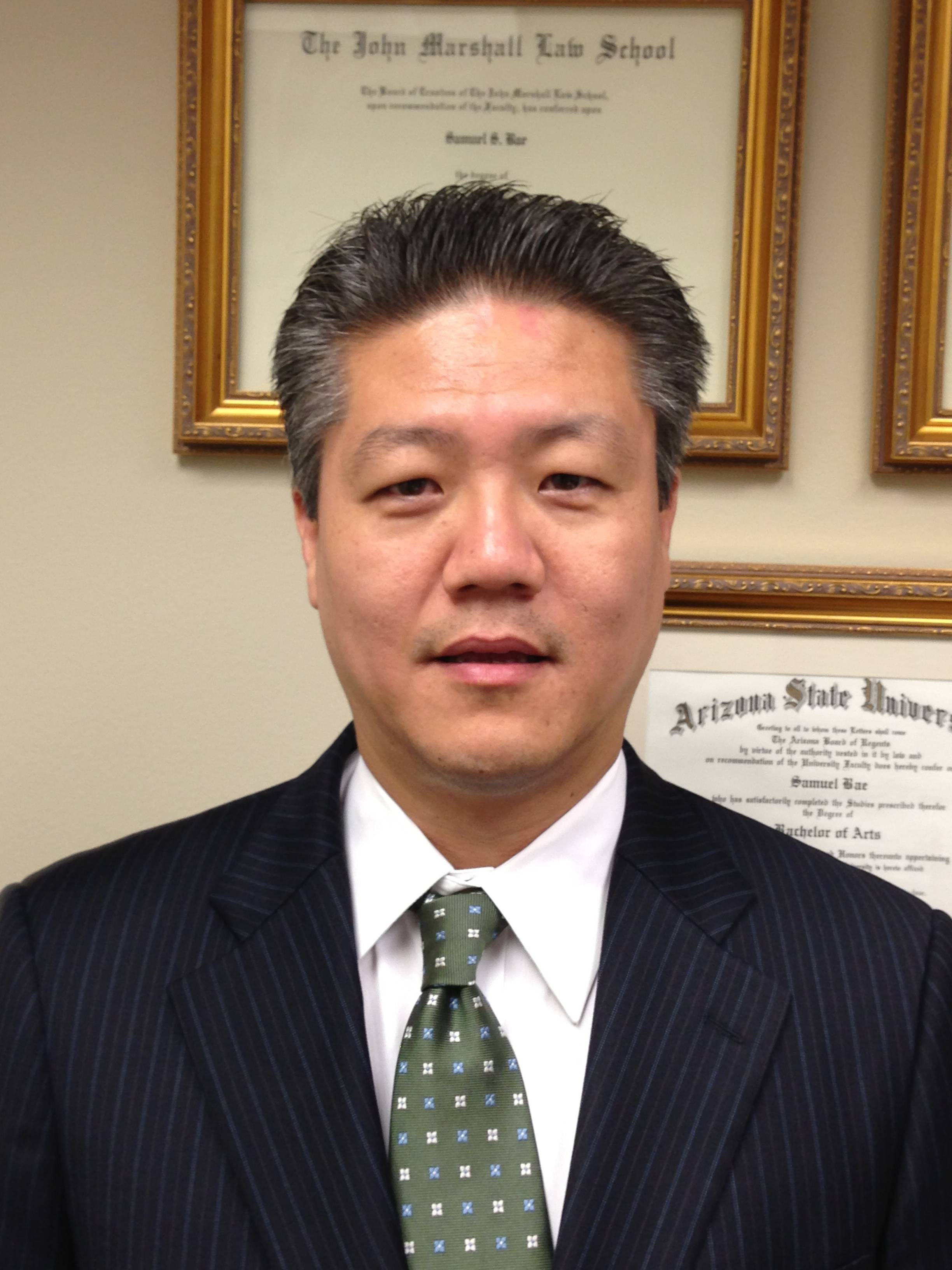 Samuel Bae, running for Cook County Circuit Court - 12th subcircuit