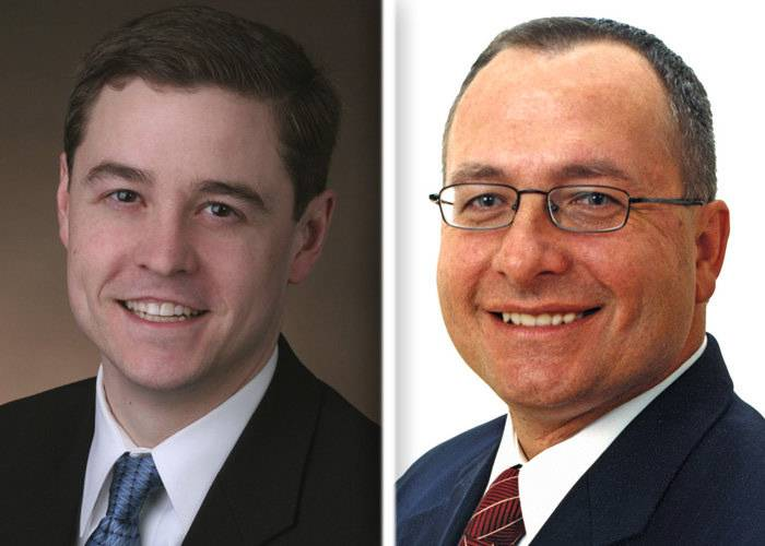 Chris Nybo, left, and Dennis Reboletti are candidates in the race for the 24th state Senate District in the March 18 GOP primary.