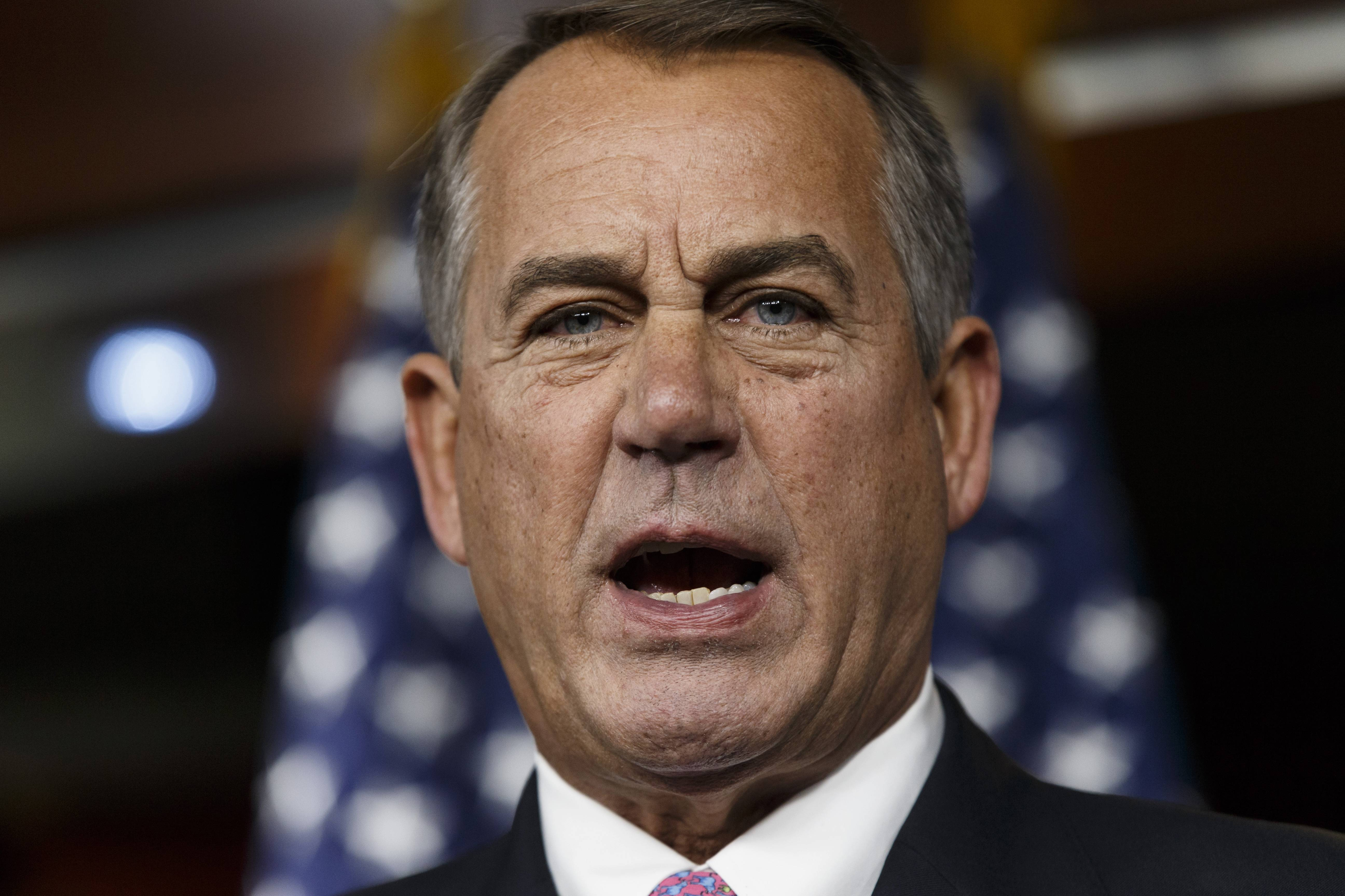 Unwilling to risk spooking the markets, and leading a fractured GOP majority, House Speaker John Boehner on Tuesday stepped back from a confrontation with Democrats to let Congress vote on increasing the government's borrowing cap without trying to extract any concessions from the White House. The increase passed 221-201.