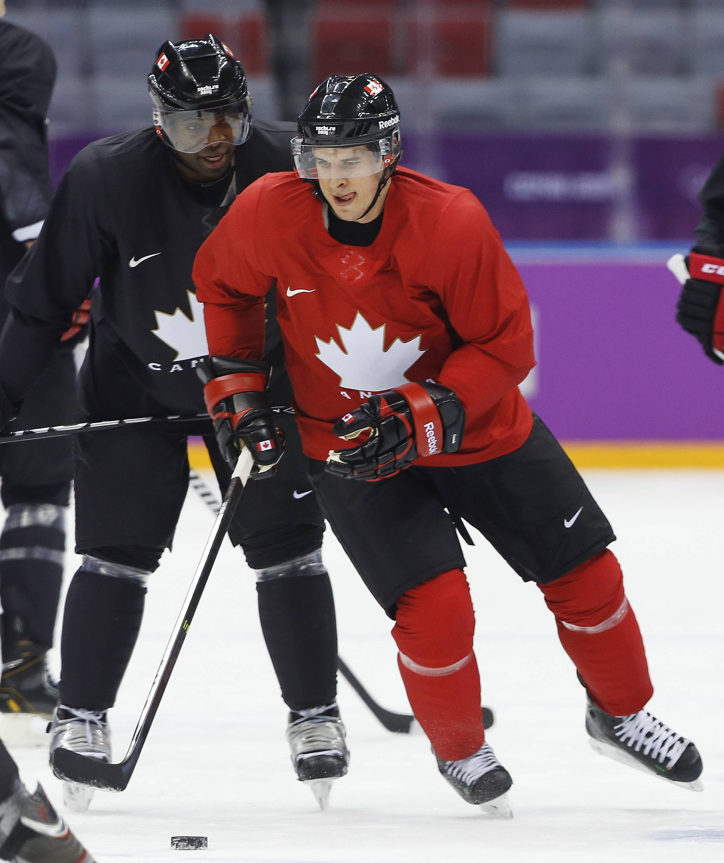 It was the overtime goal in the 2010 Games in Vancouver by Canada's Sidney Crosby, here running through a drill during a training session this week in Sochi, that the U.S. team is out to avenge this time around.