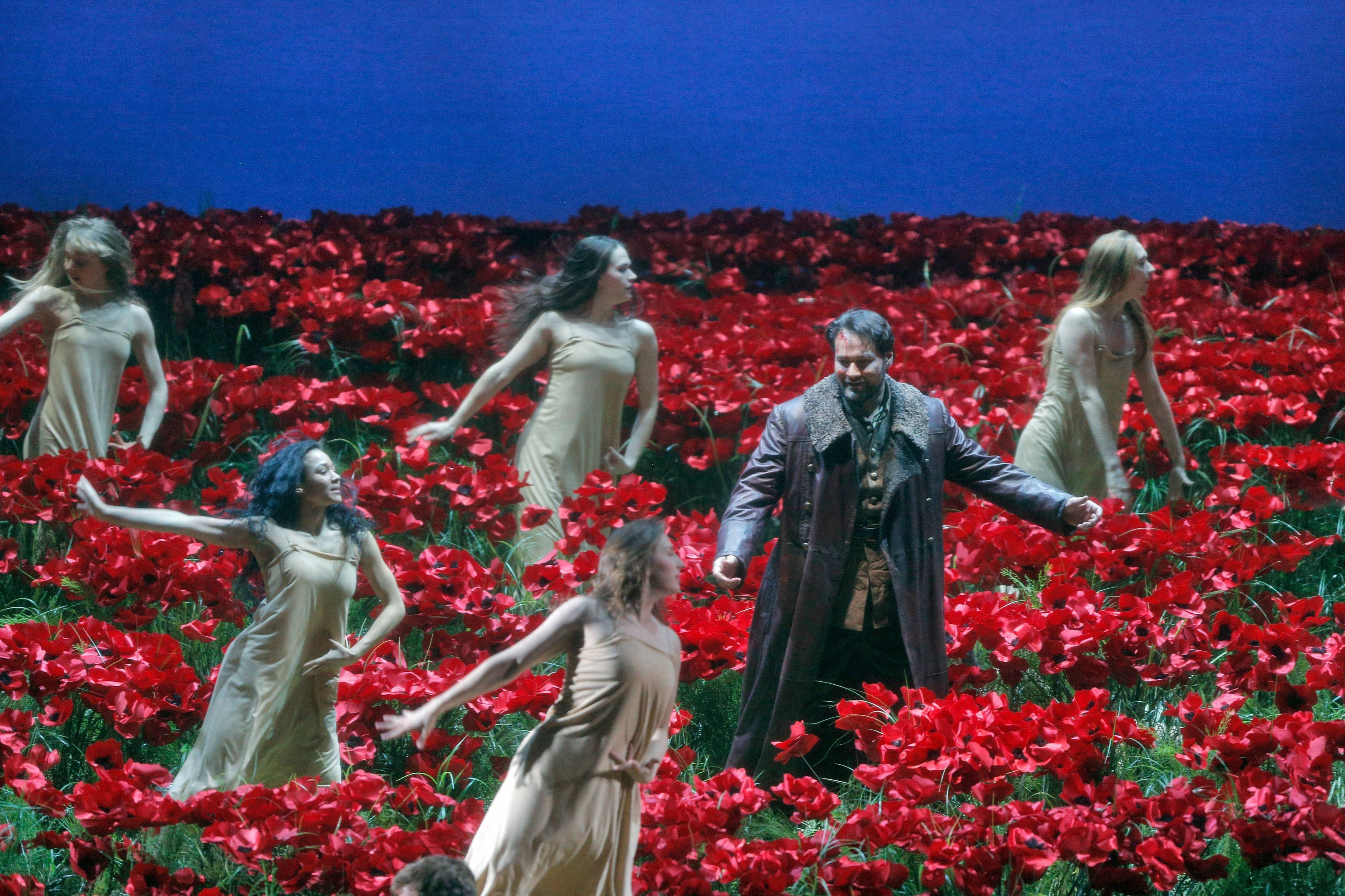 "Ildar Abdrazakov (in coat) stars in the title role of Borodin's ""Prince Igor,"" which is shown in select movie theaters as part of the Metropolitan Opera's Live in HD series."