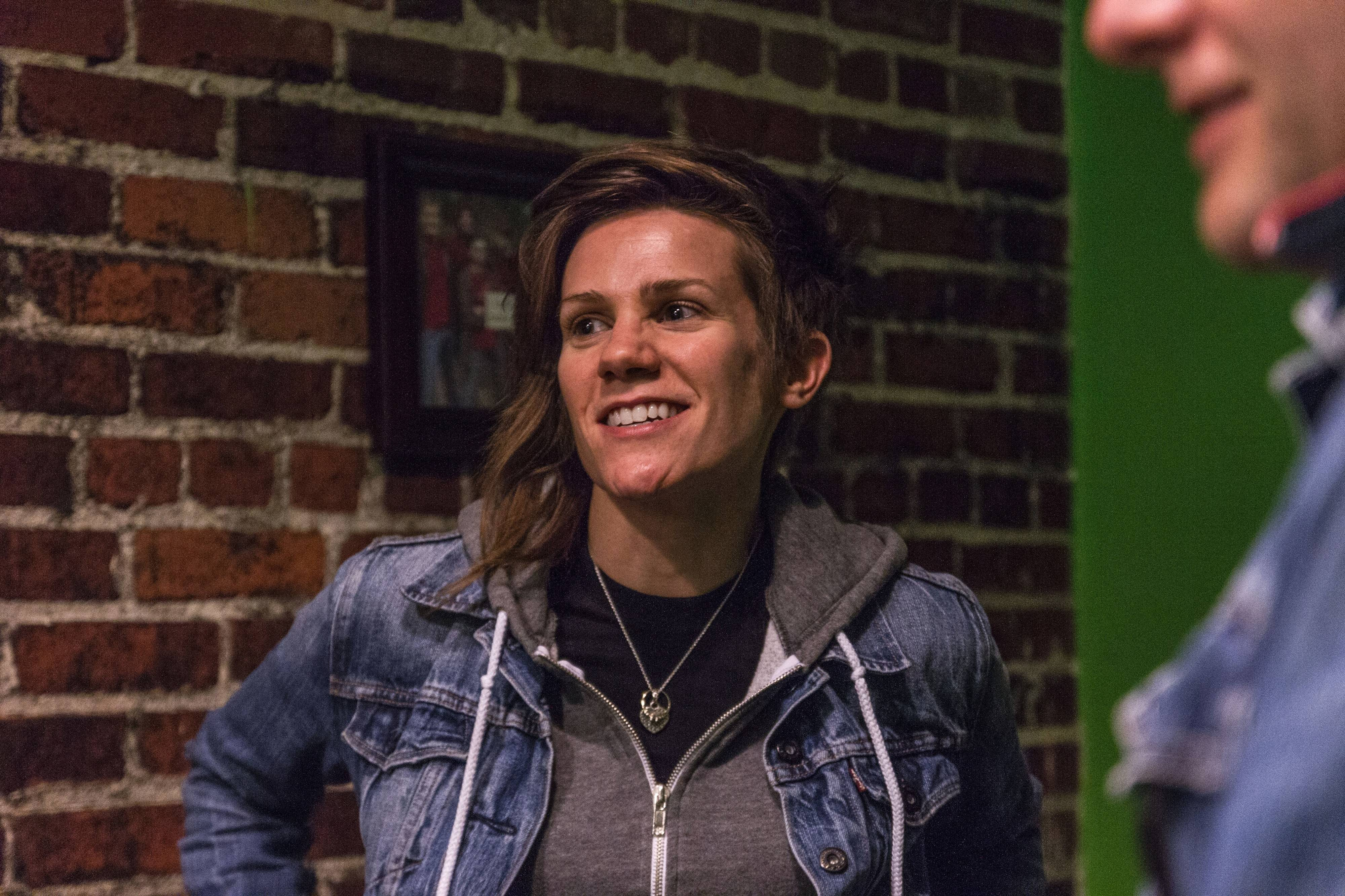 Comedian Cameron Esposito, of Western Springs, talks about her funny suburban childhood in her stand-up act.