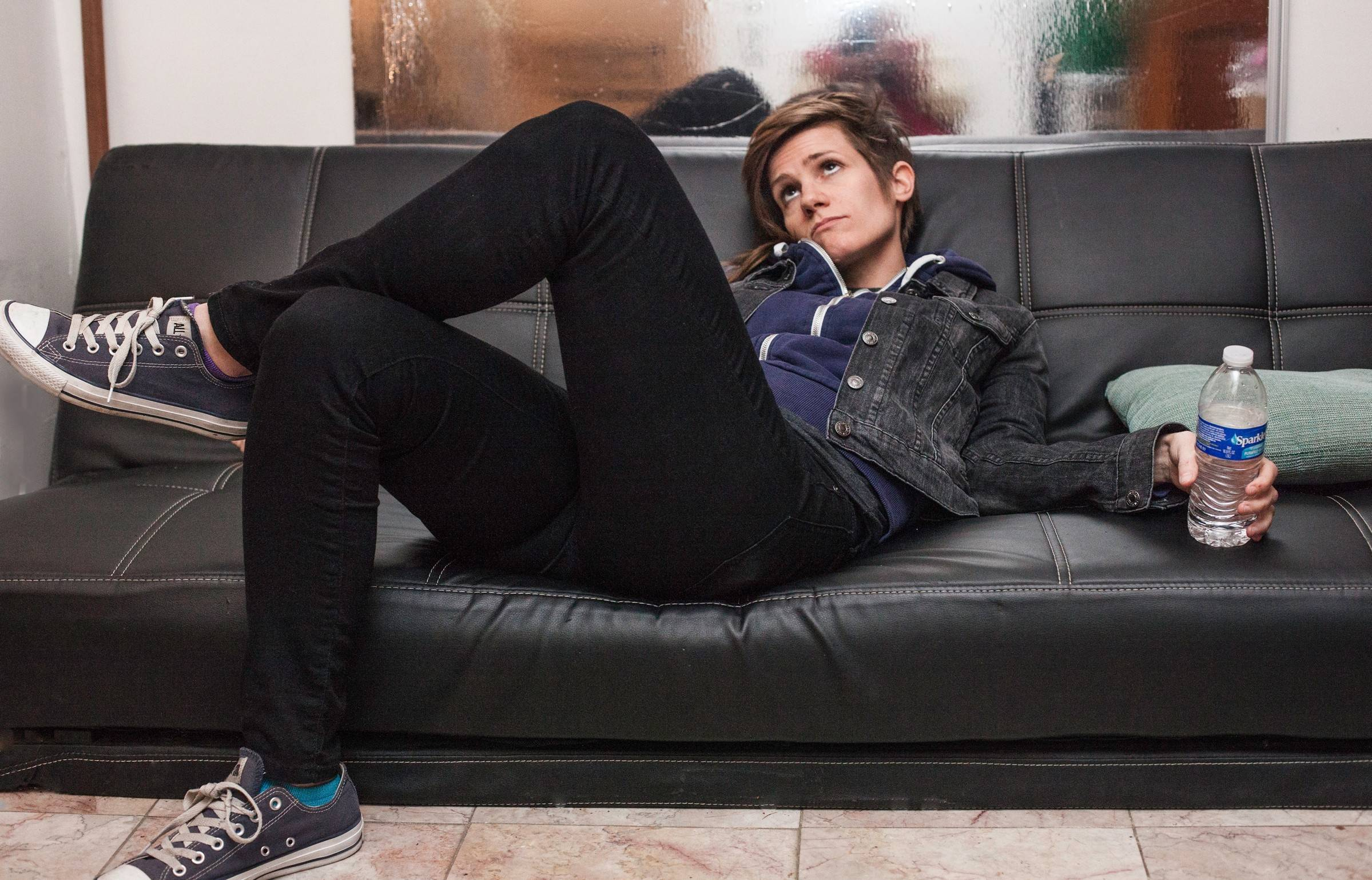 "Jay Leno told comedian Cameron Esposito, of Western Springs, ""You're the future!"""