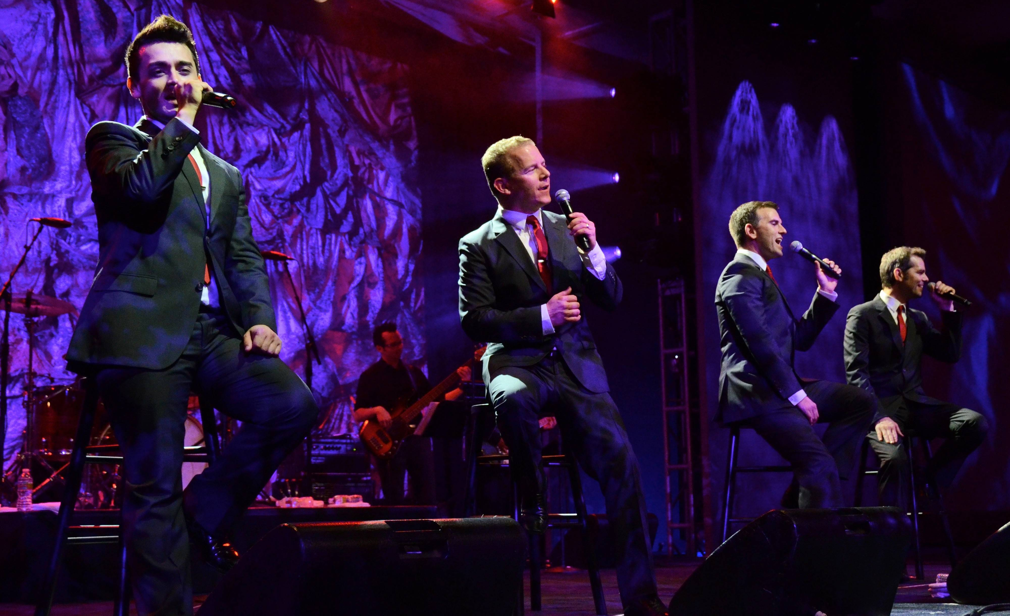 "The Midtown Men, featuring Michael Longoria, Christian Hoff, Daniel Reichard and J. Robert Spencer of the original Broadway company of ""Jersey Boys,"" perform two shows at the Paramount Theatre in Aurora on Friday, Feb. 14."