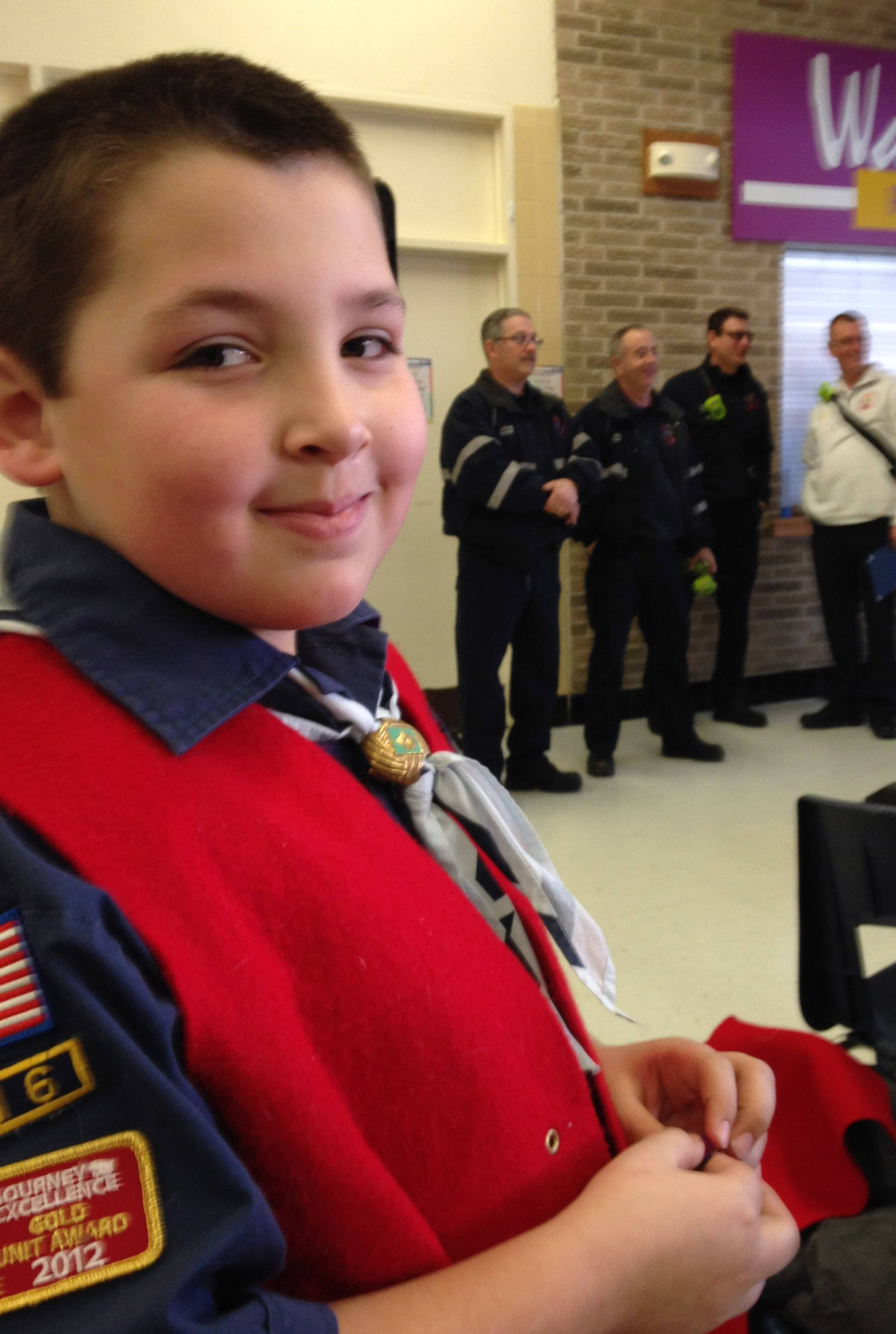 Joey Scianna, 8, of Island Lake.