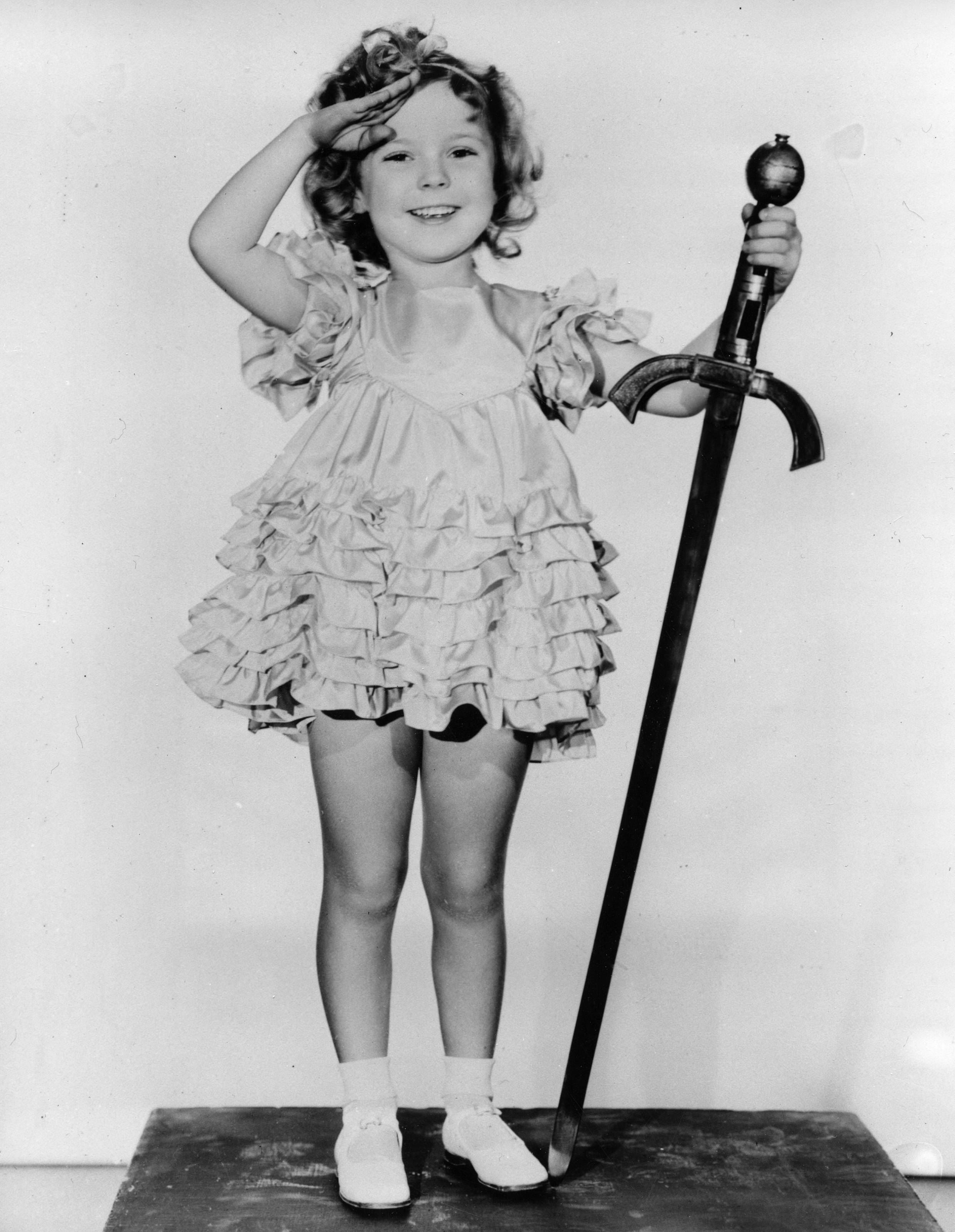 "In this 1933 file photo, child actress Shirley Temple is seen in her role as ""Little Miss Marker""."