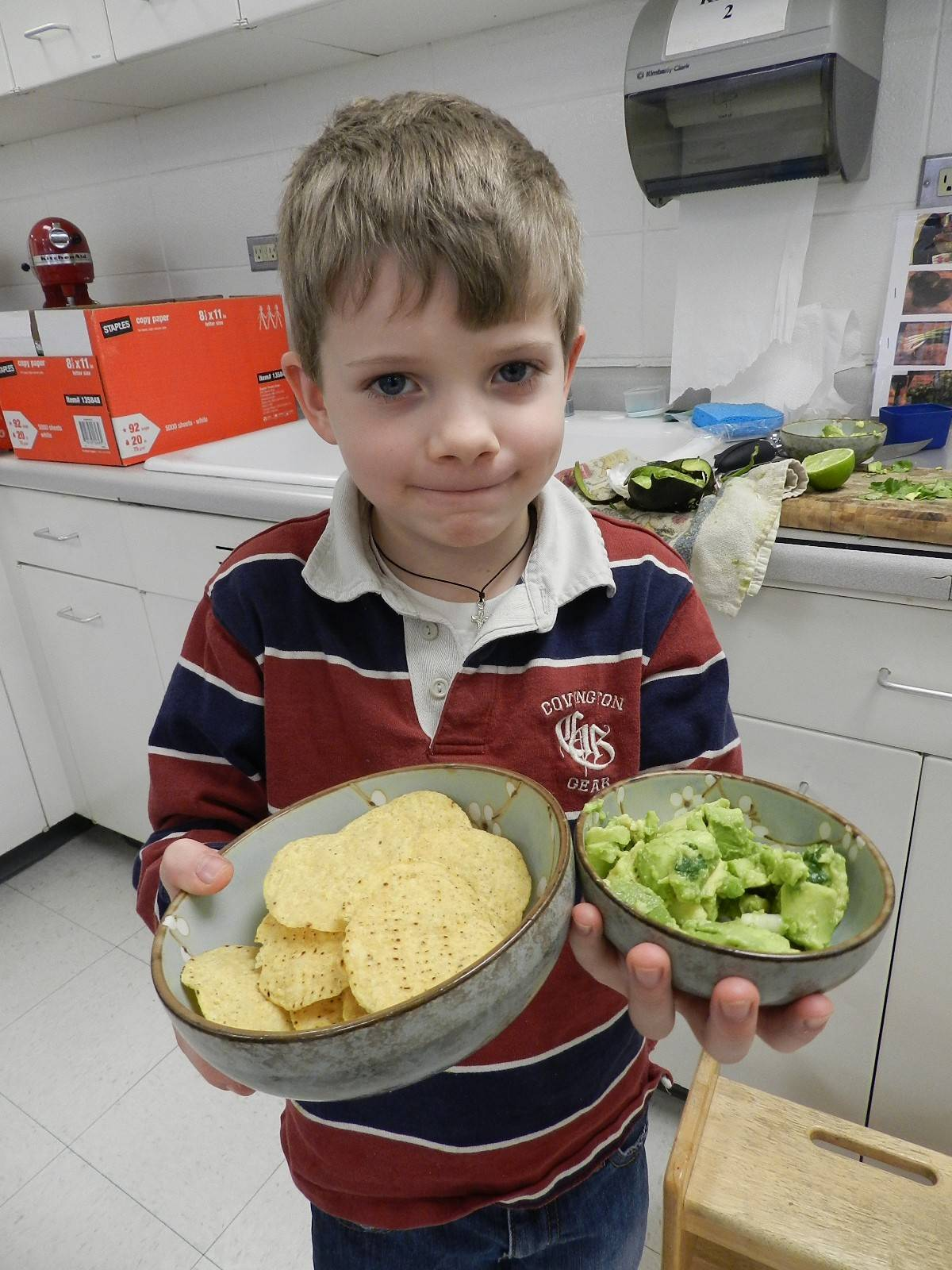 Michael McCarthy, 6, of Chicago, was recognized in the Cloverbud category for his guacamole at a favorite foods contest in Arlington Heights sponsored by 4-H.