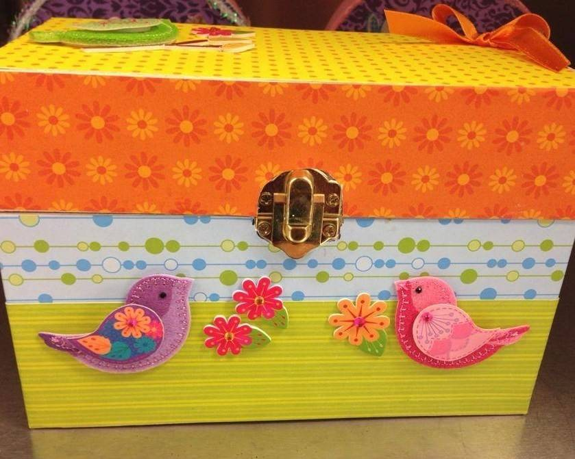 "All of the items sold at the Lake Forest Animal Hospital's Annual Bake Sale and Craft Fair, like this ""treasure box,"" were donated by staff and clients."