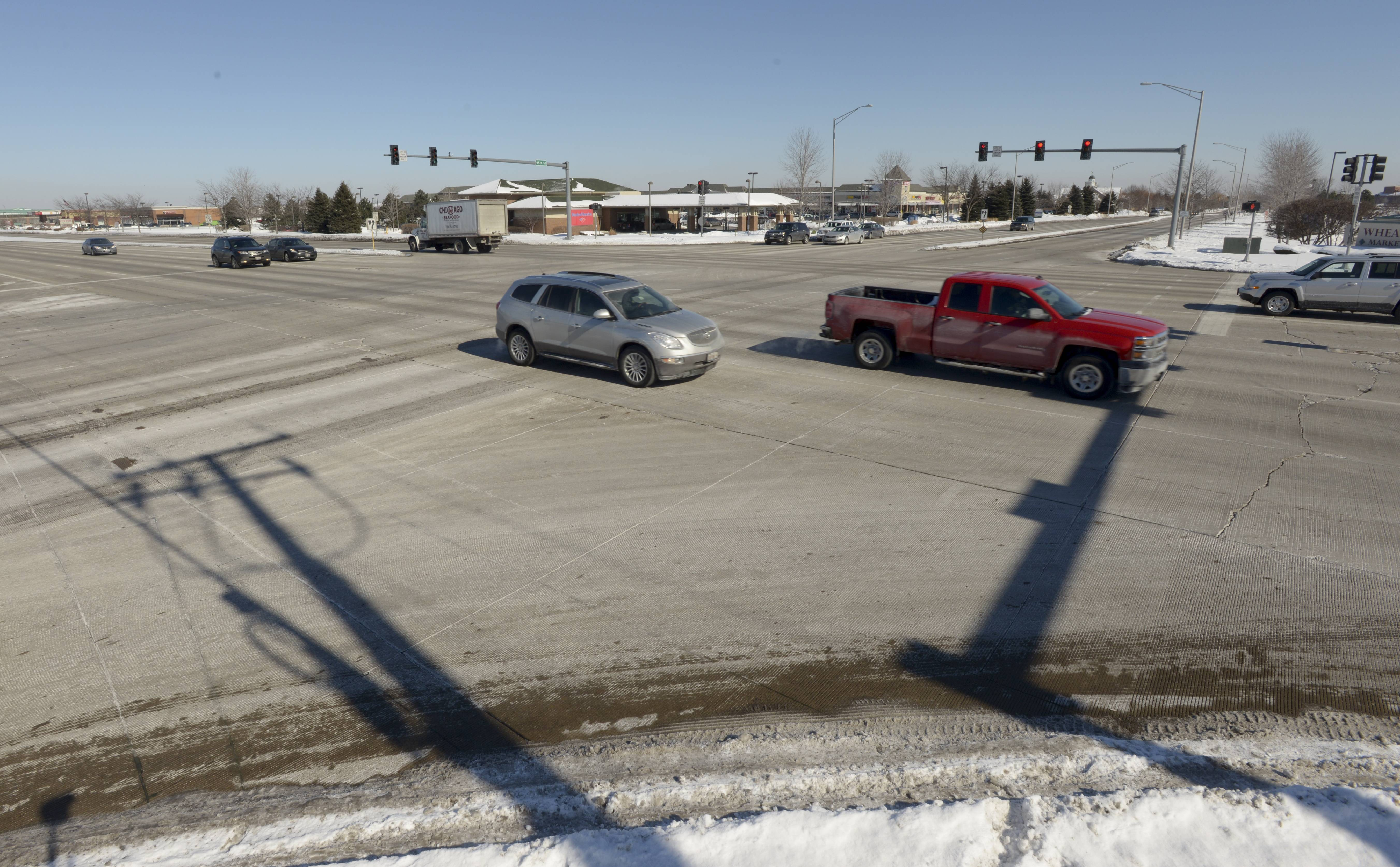 There were 58 crashes in 2013 at the Naperville intersection of Route 59 and 95th Street, which tied it for the highest number citywide with the intersection of Route 59 and Diehl Road.