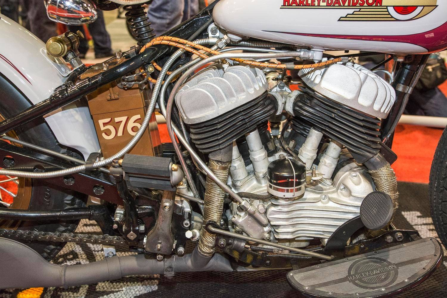 Crabtree's Harley was assembled from a mishmash of parts.
