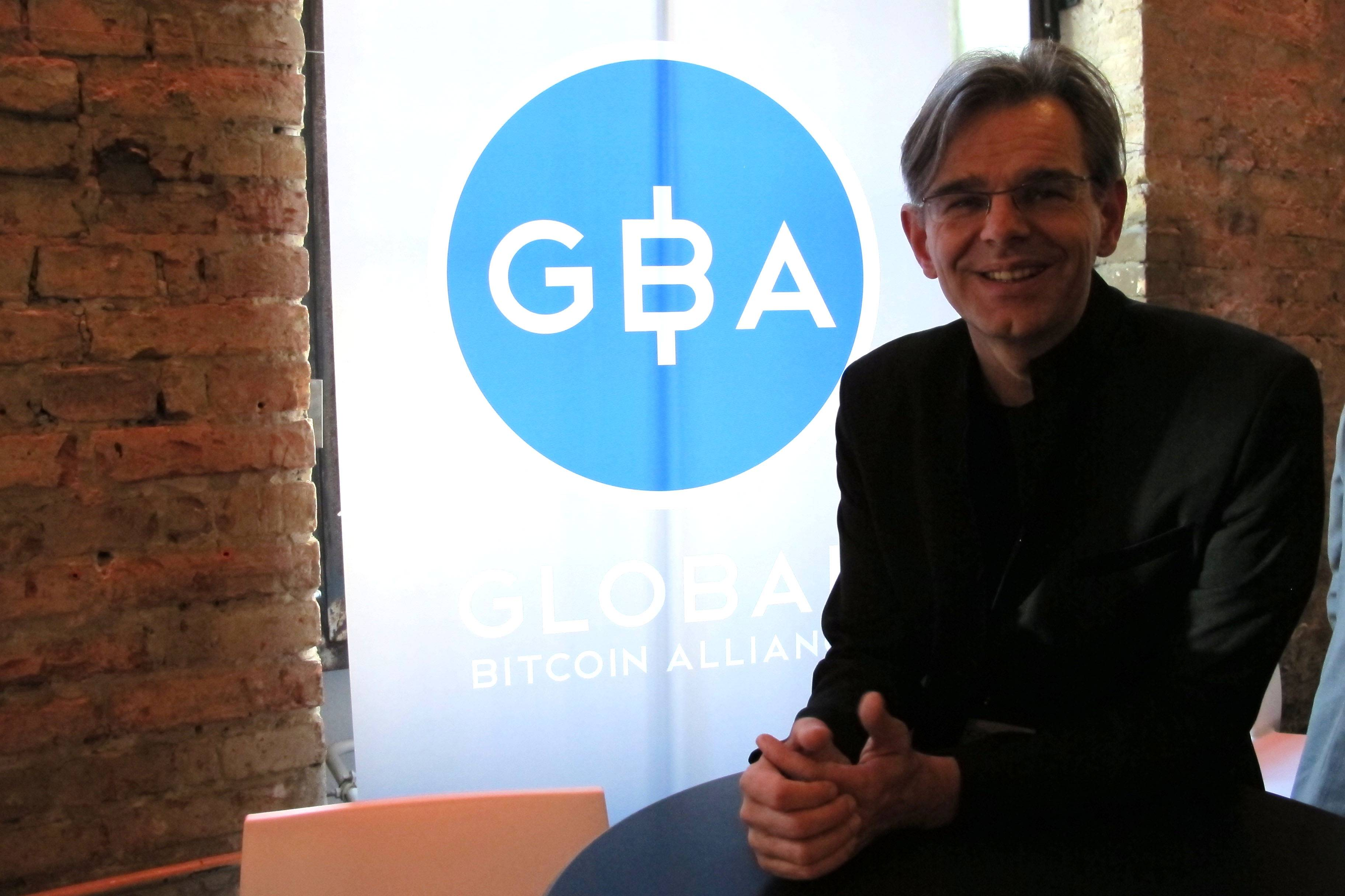 Aaron Koenig, managing director of the Global Bitcoin Alliance, at the Inside Bitcoins conference in Berlin Wednesday.
