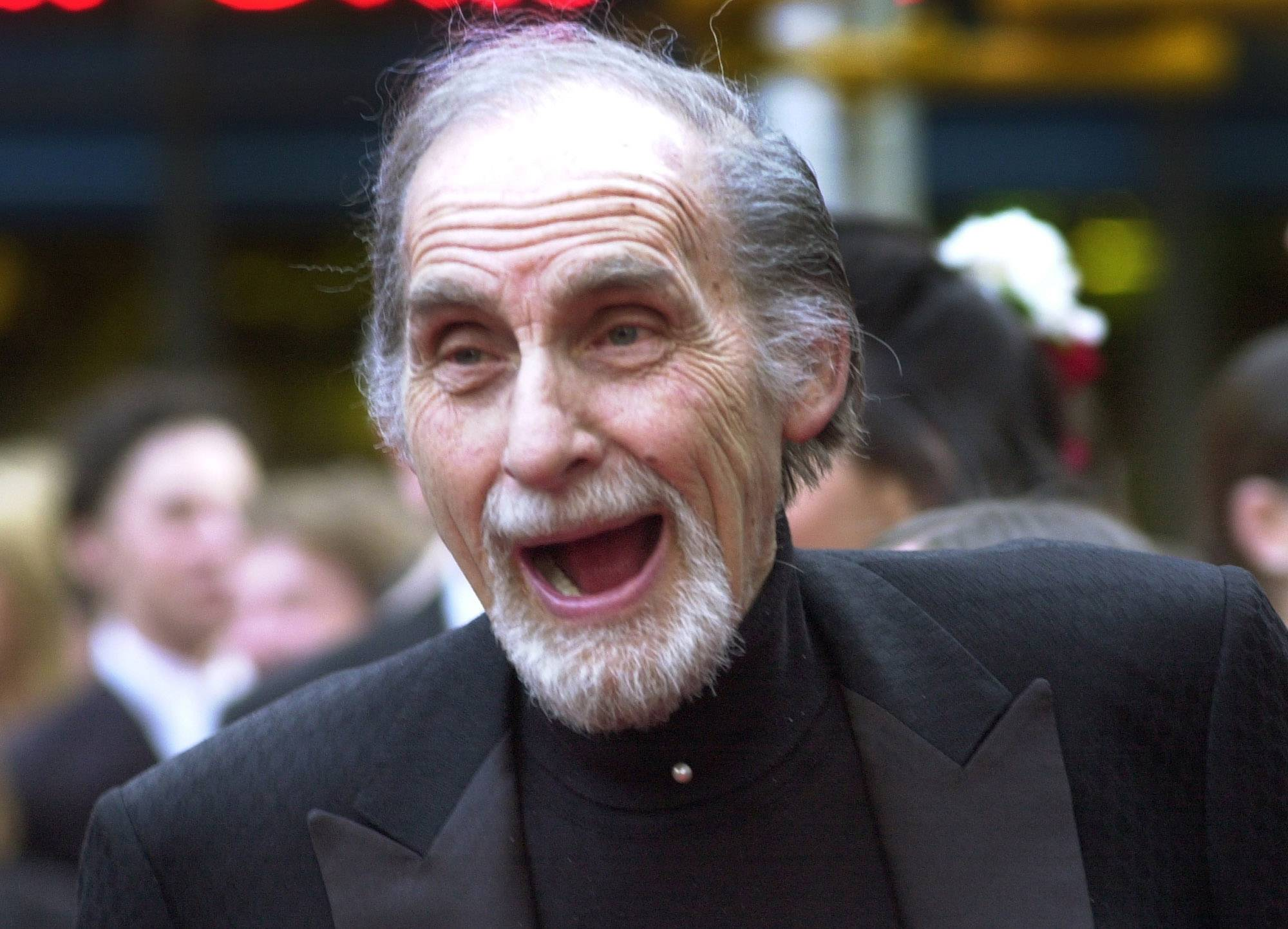 "Sid Caesar, of ""Your Show of Shows,"" is seen here in 2002. Caesar, whose sketches lit up 1950s television with zany humor, died Wednesday. He was 91."